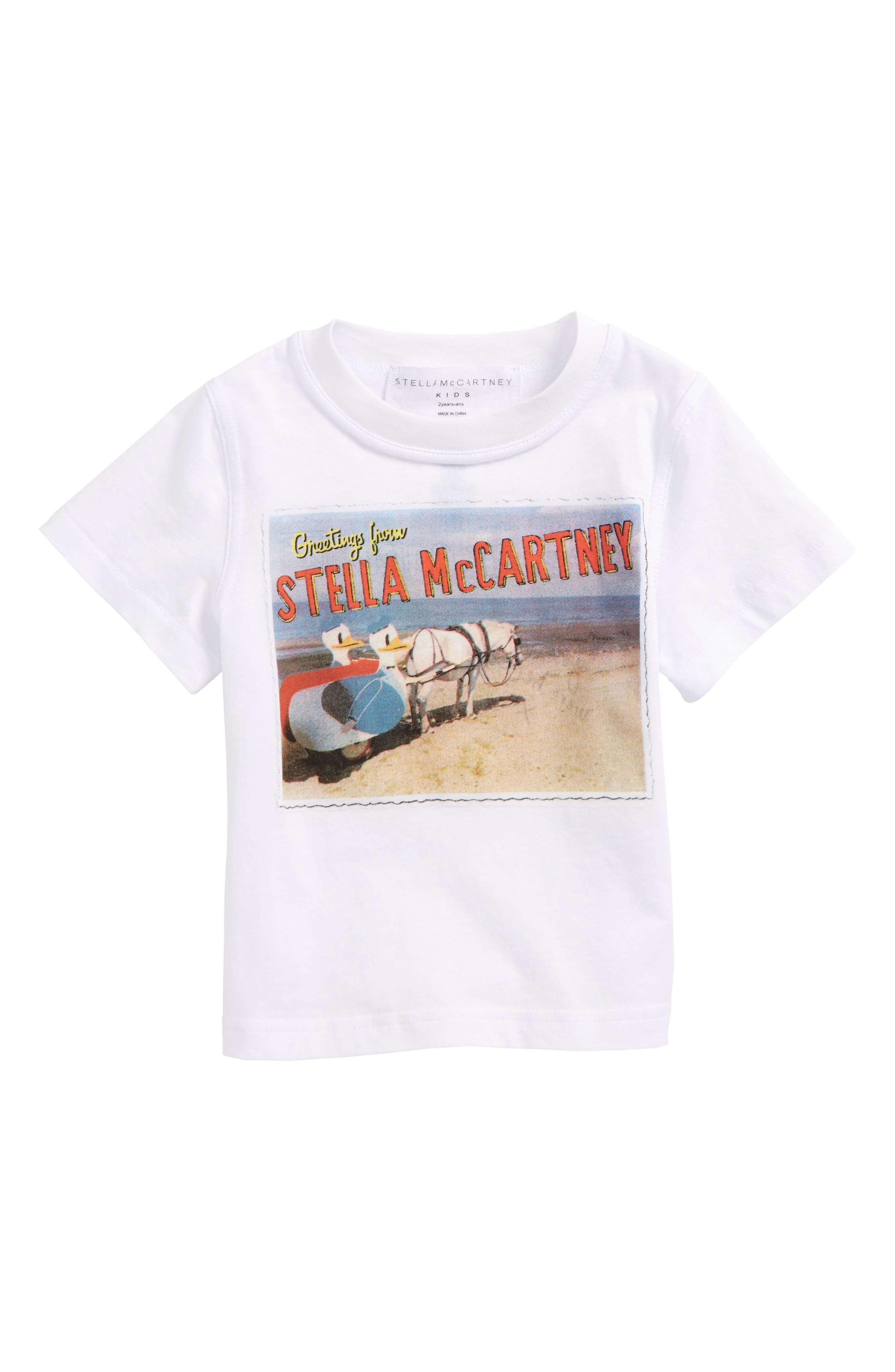 Main Image - Stella McCartney Arlo Stella Postcard Tee (Toddler Girls, Little Girls & Big Girls)