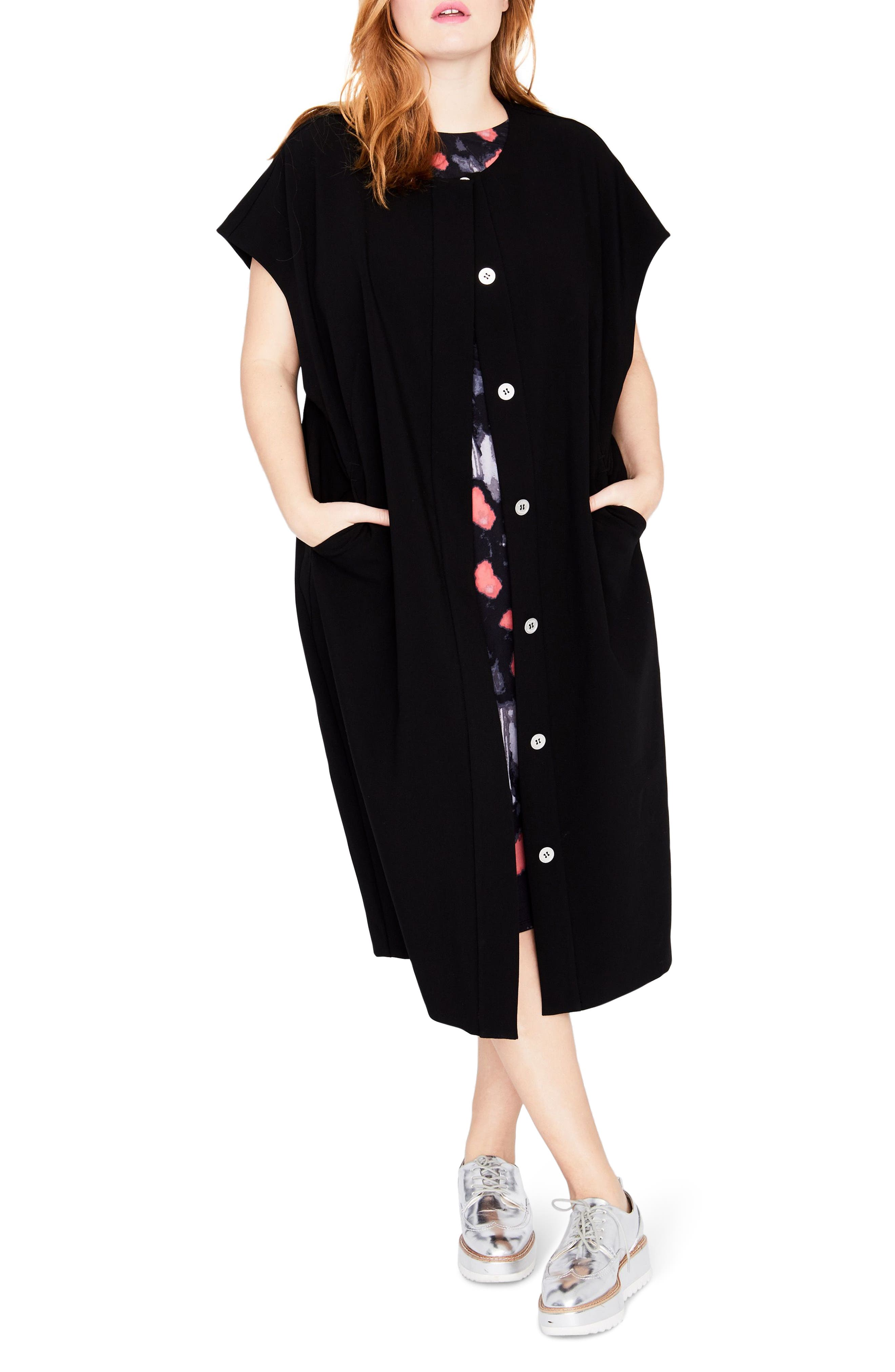 Modern Kimono,                             Main thumbnail 1, color,                             Black