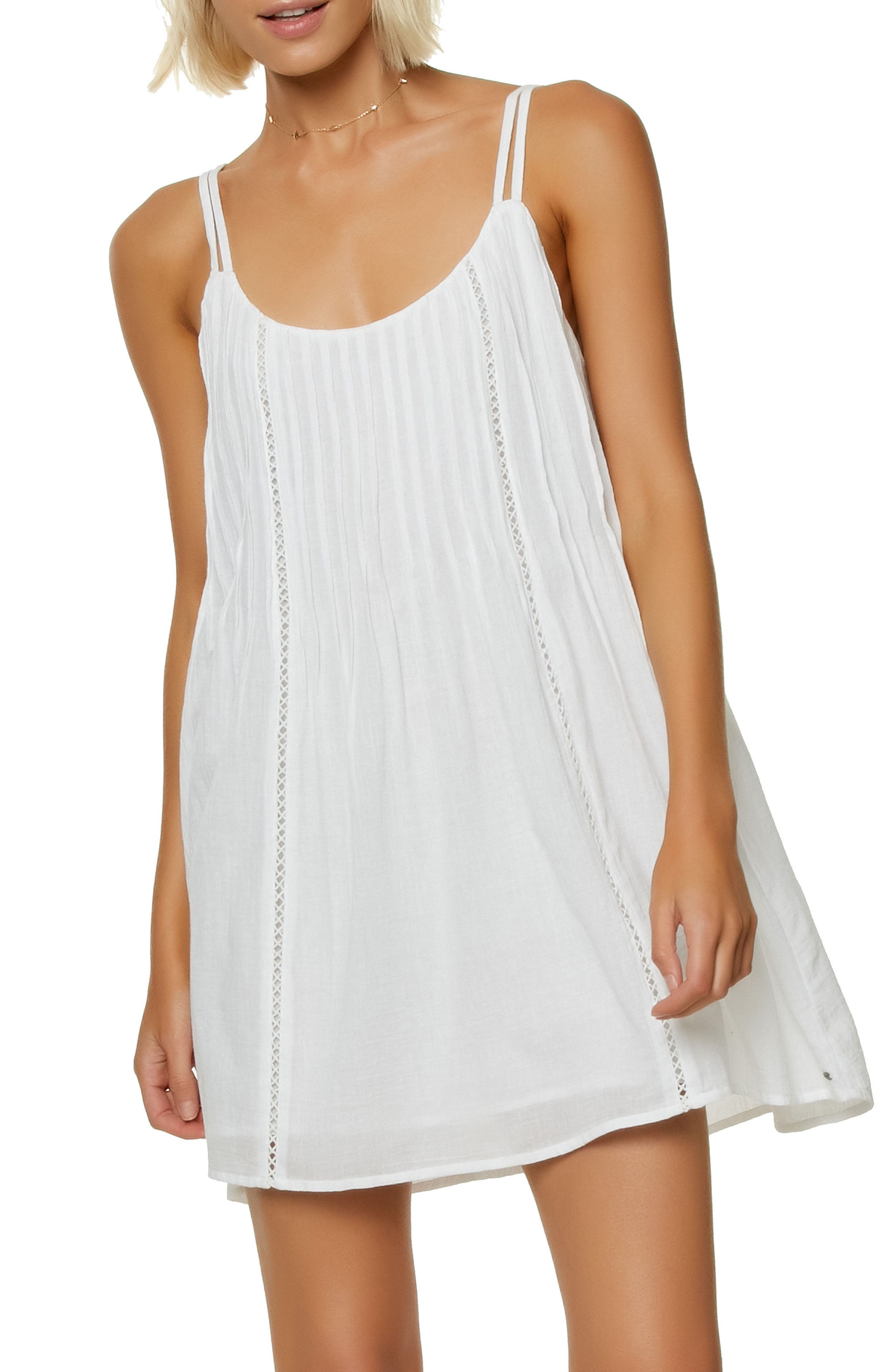 Kaylyn Pleat Sundress,                         Main,                         color, White