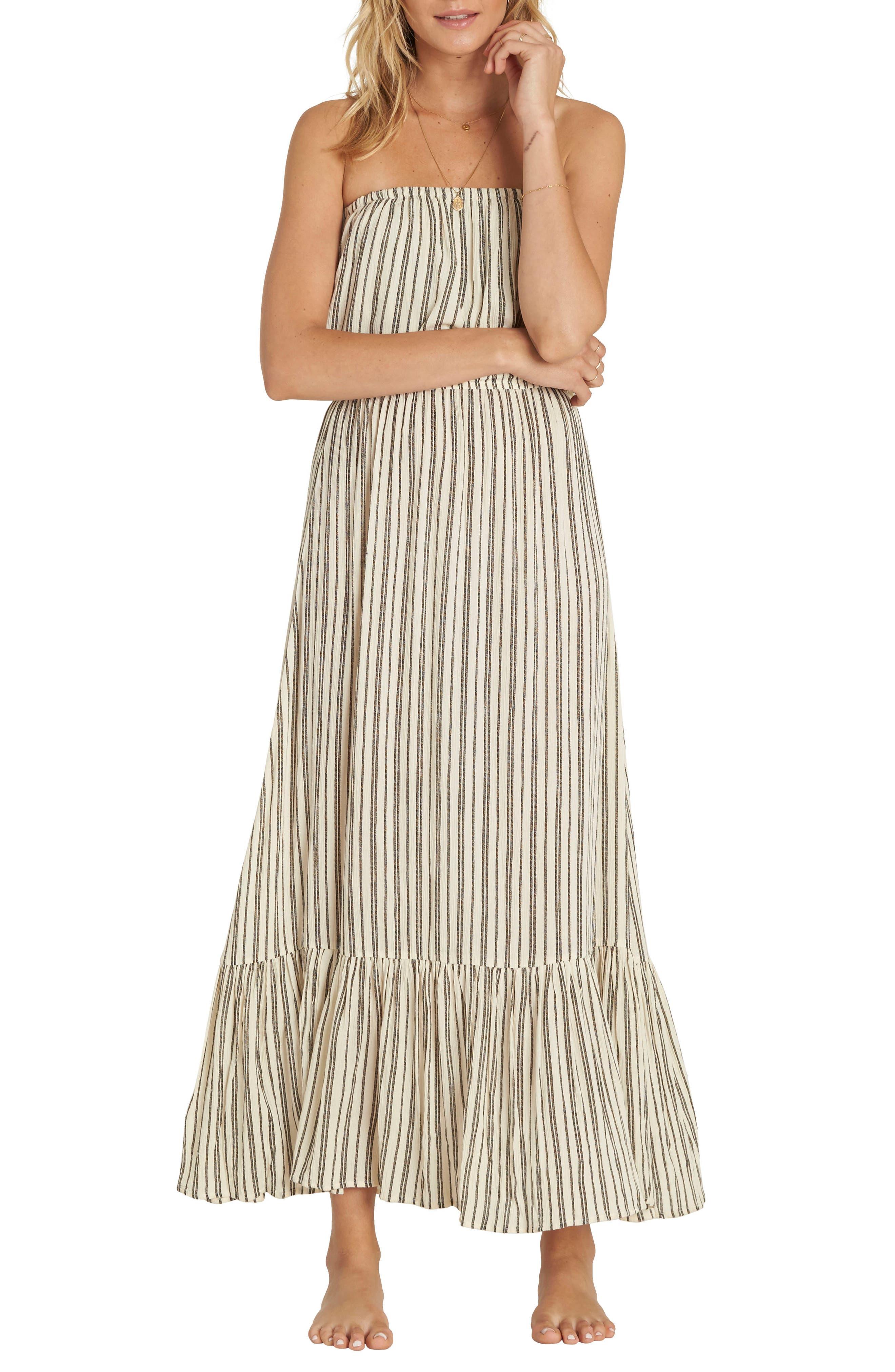 Island Vibes Strapless Maxi Dress,                         Main,                         color, White Cap