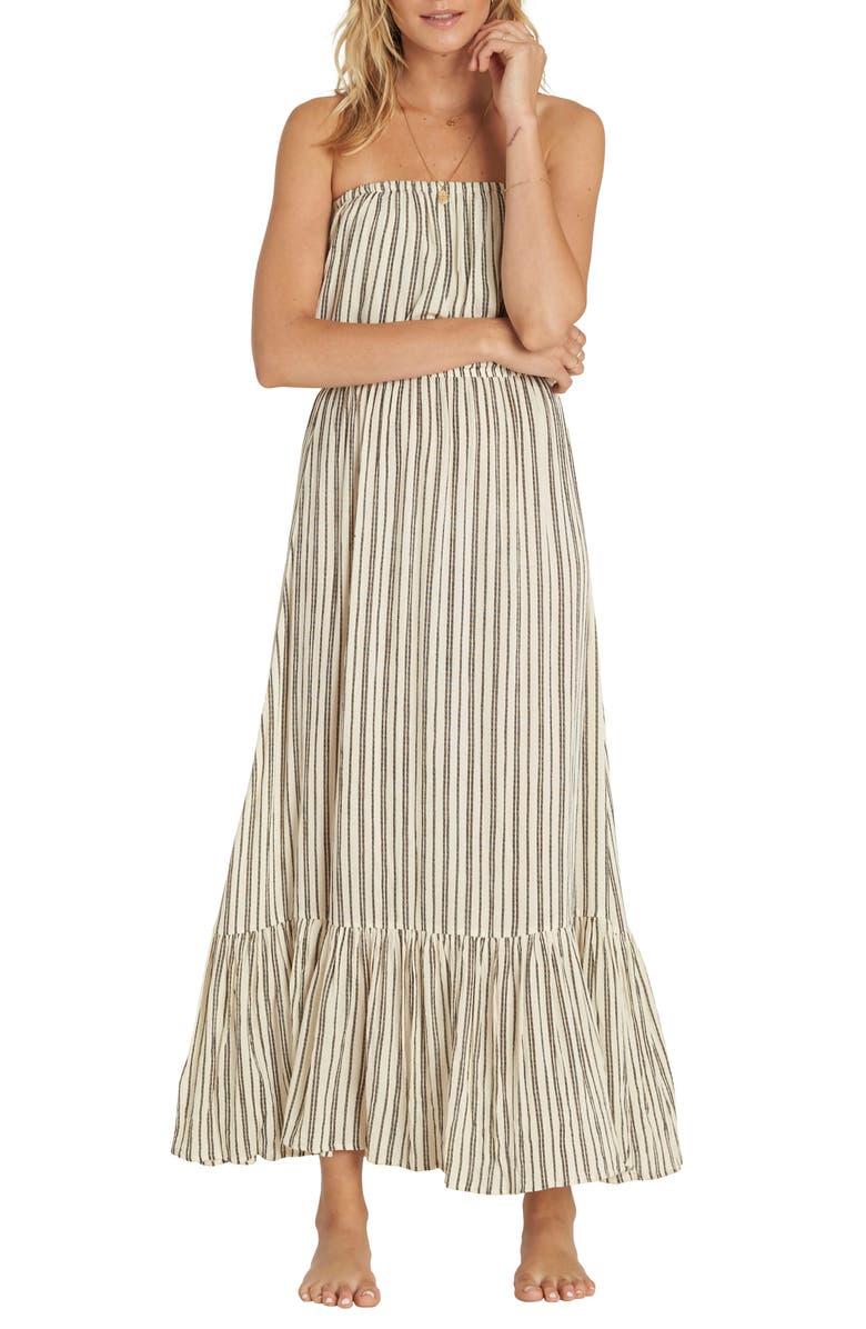 Island Vibes Strapless Maxi Dress