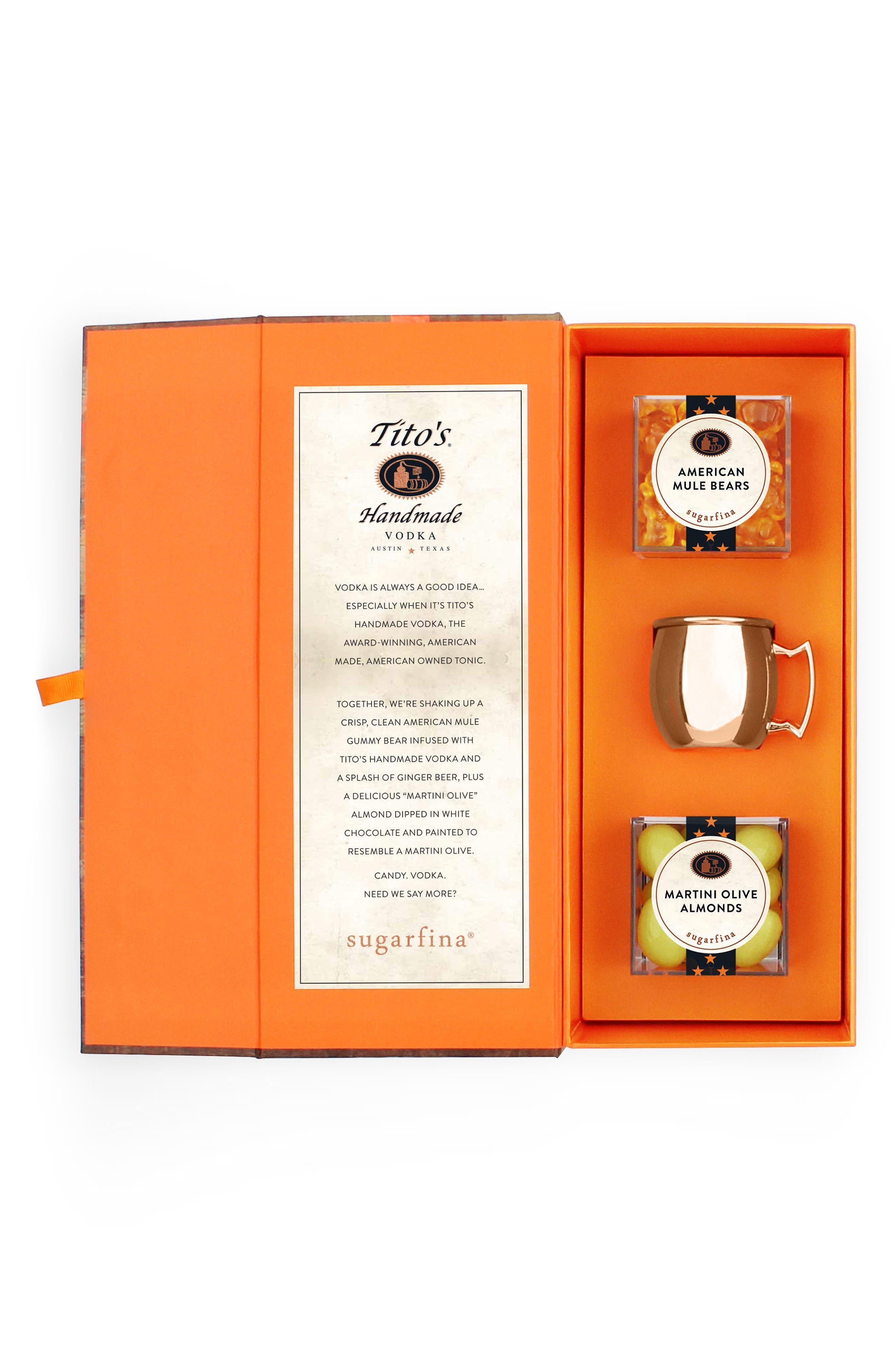 Vodka is Always a Good Idea Candy Bento Box,                             Main thumbnail 1, color,                             Orange