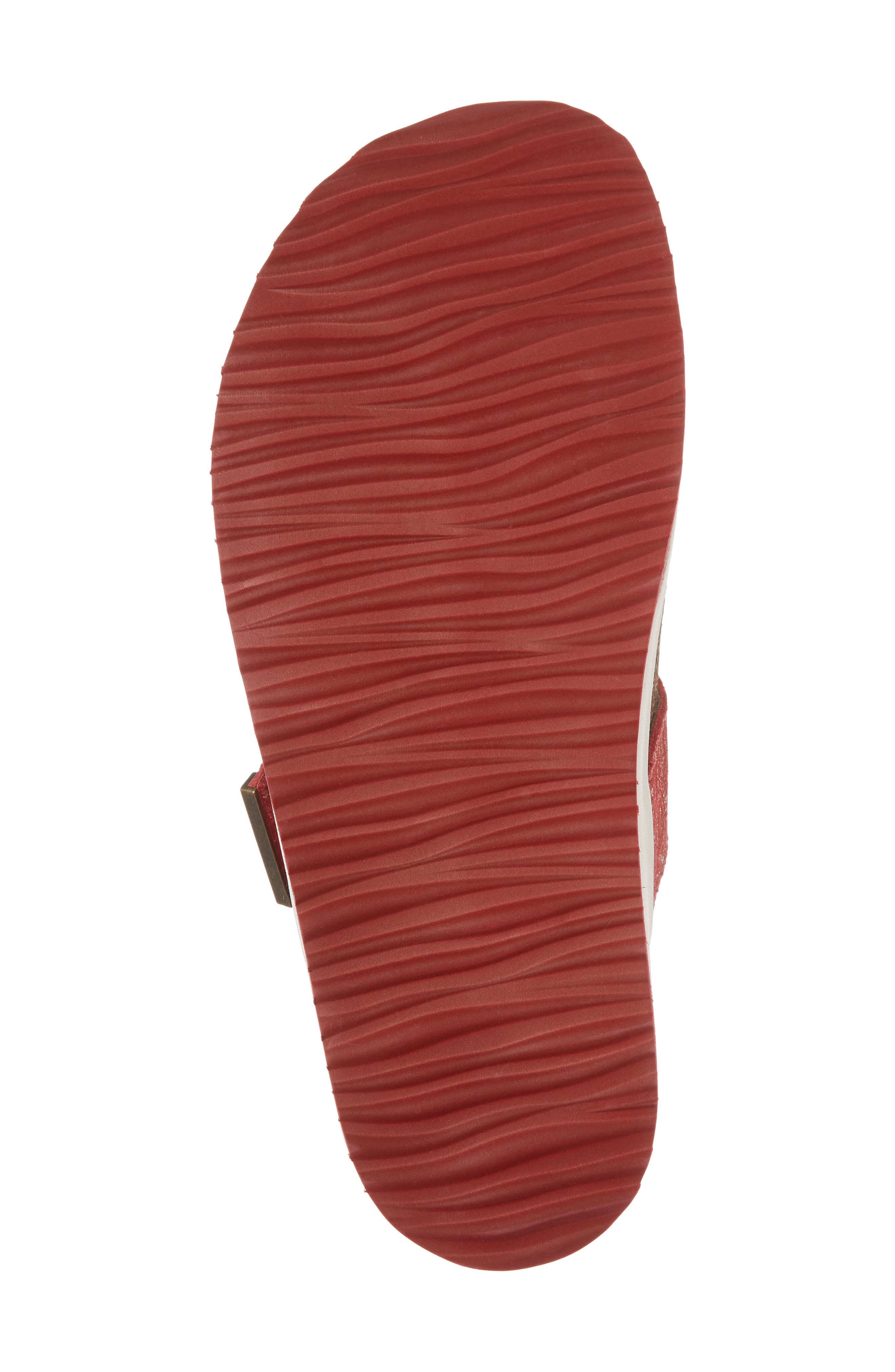 Phoebe Sandal,                             Alternate thumbnail 6, color,                             Red Metallic Leather