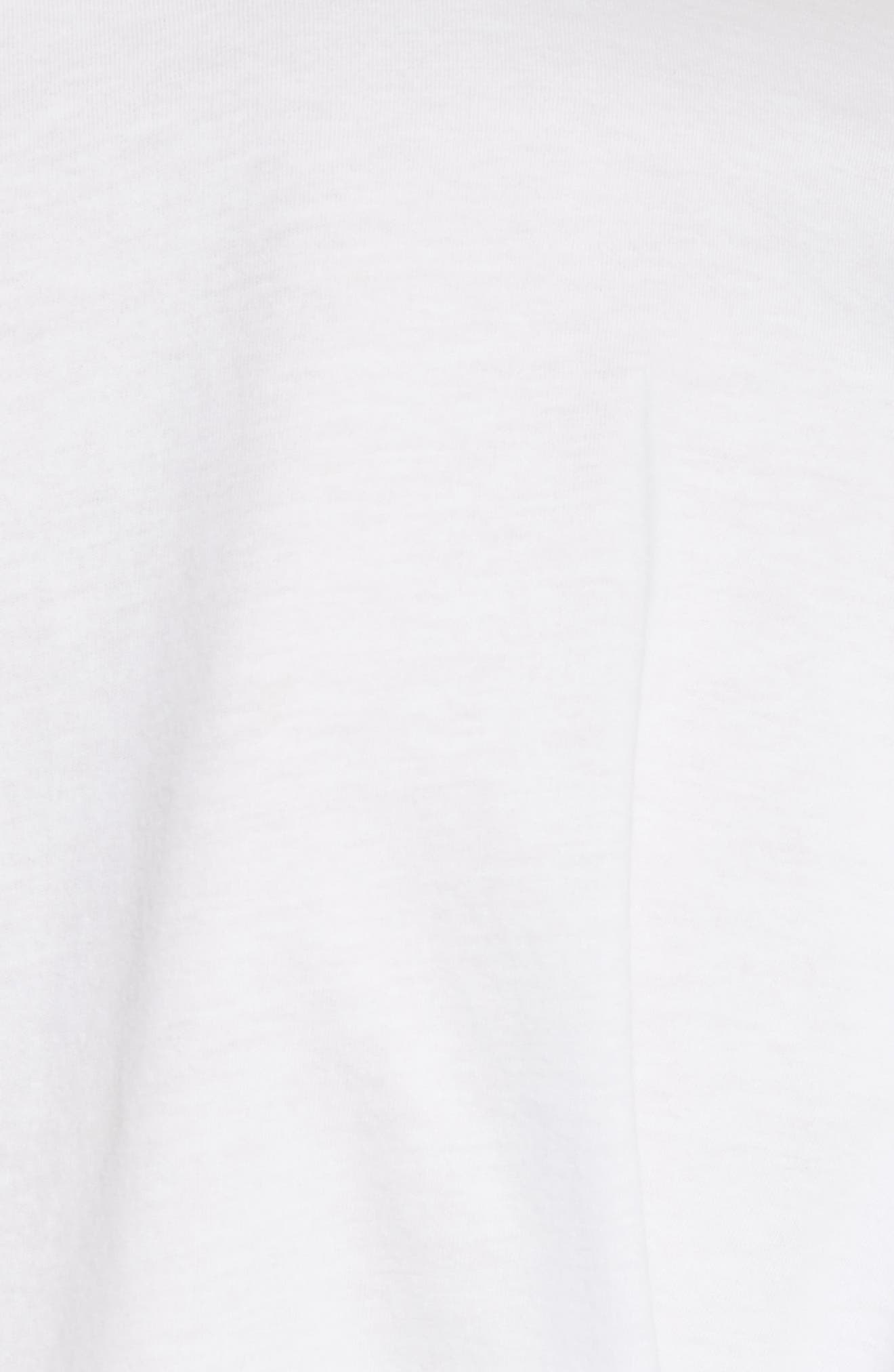 Ruched Front Tee,                             Alternate thumbnail 5, color,                             White