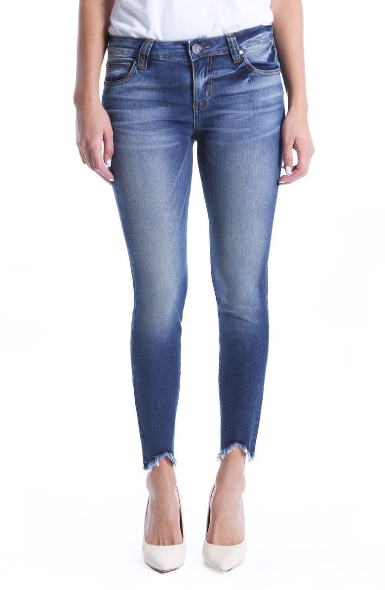 Connie Ankle Skinny Frayed Hem Jeans