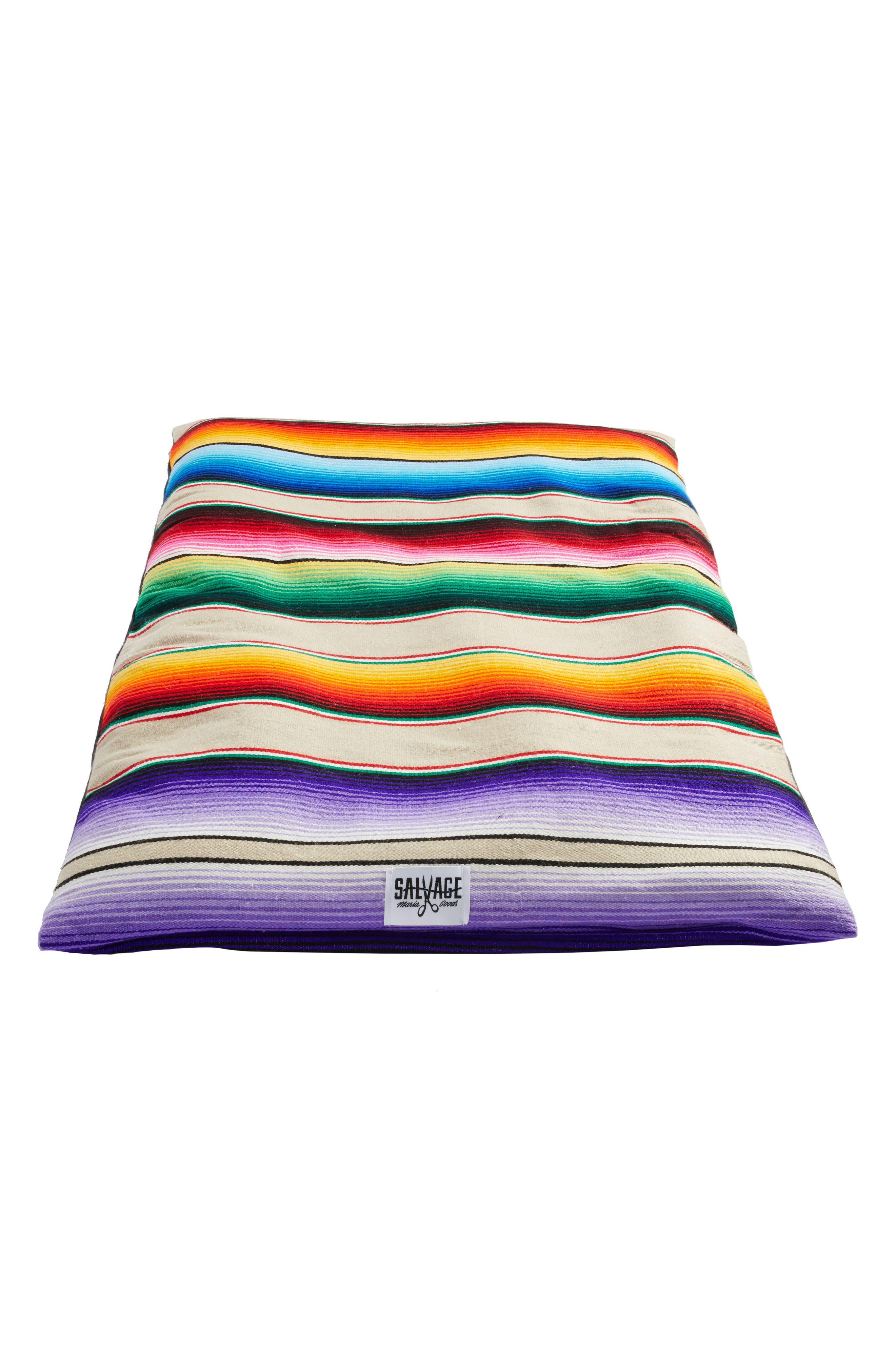 Salvage Maria Saltillo Serape Roll-Up Dog Bed