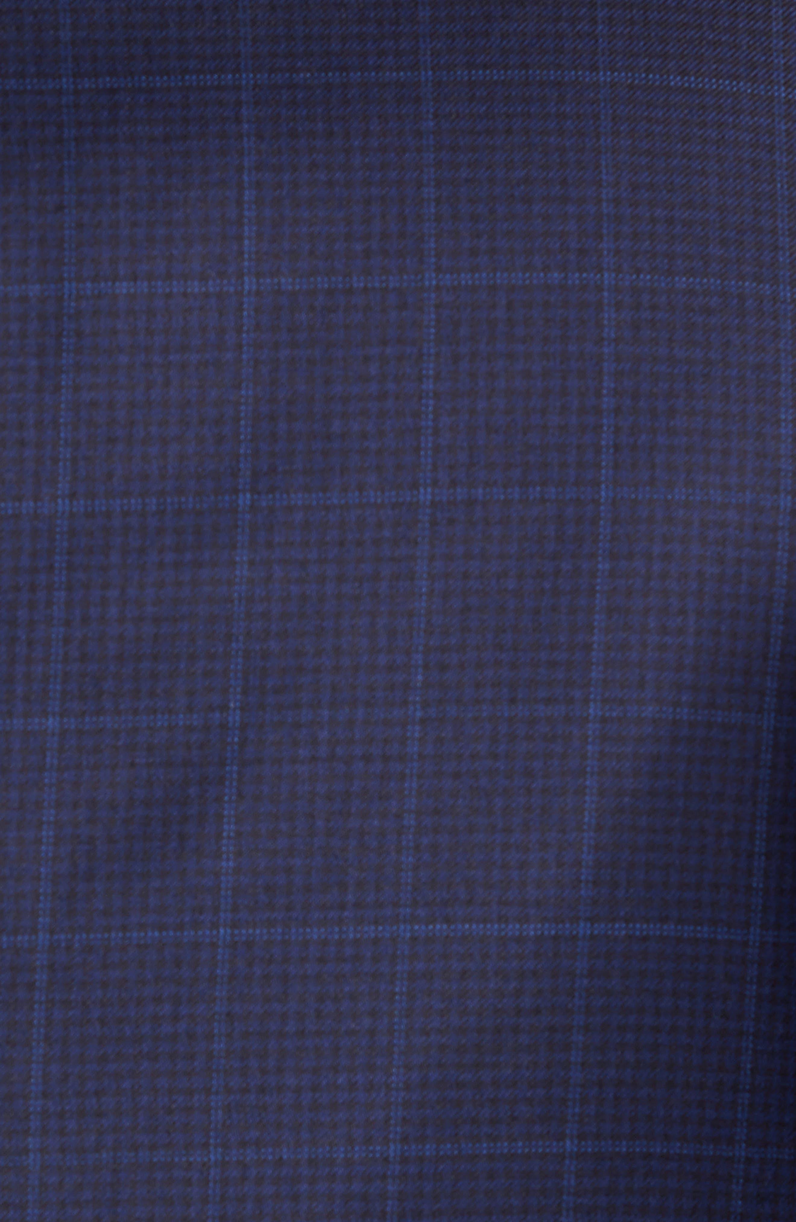 Classic Fit Windowpane Wool Sport Coat,                             Alternate thumbnail 5, color,                             Navy
