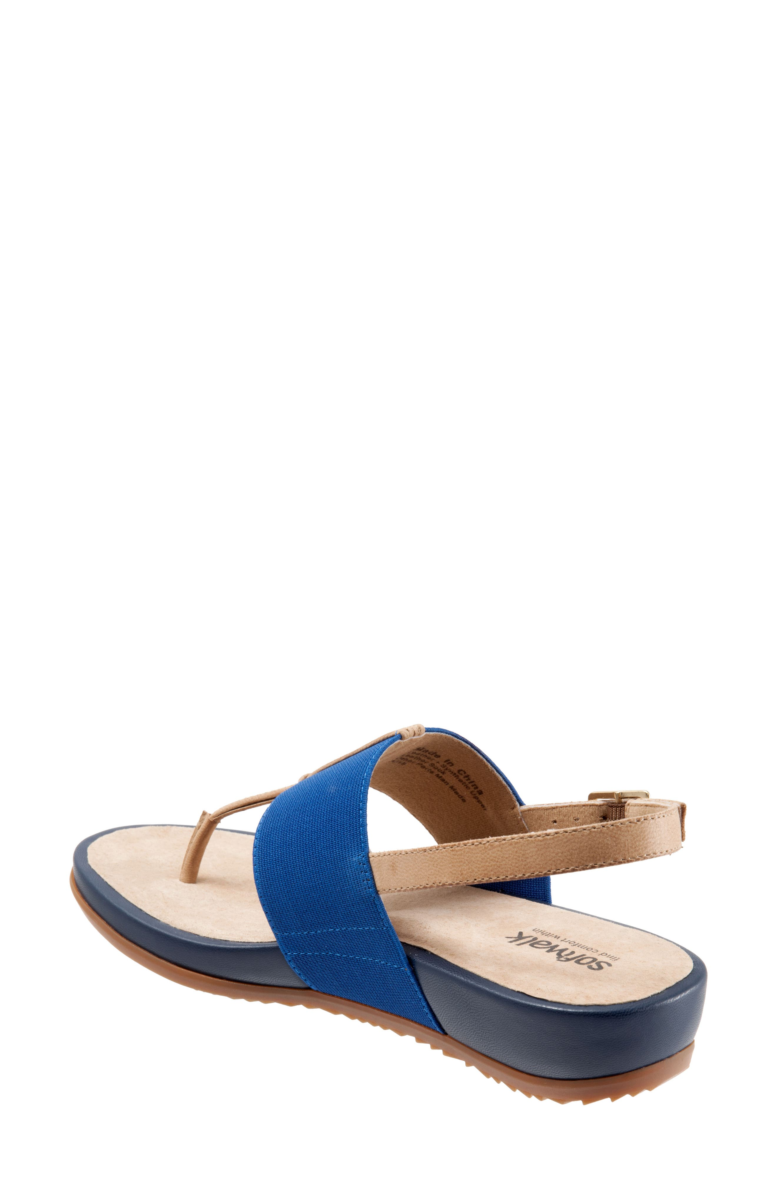 Daytona Sandal,                             Alternate thumbnail 2, color,                             Navy/ Tan Leather