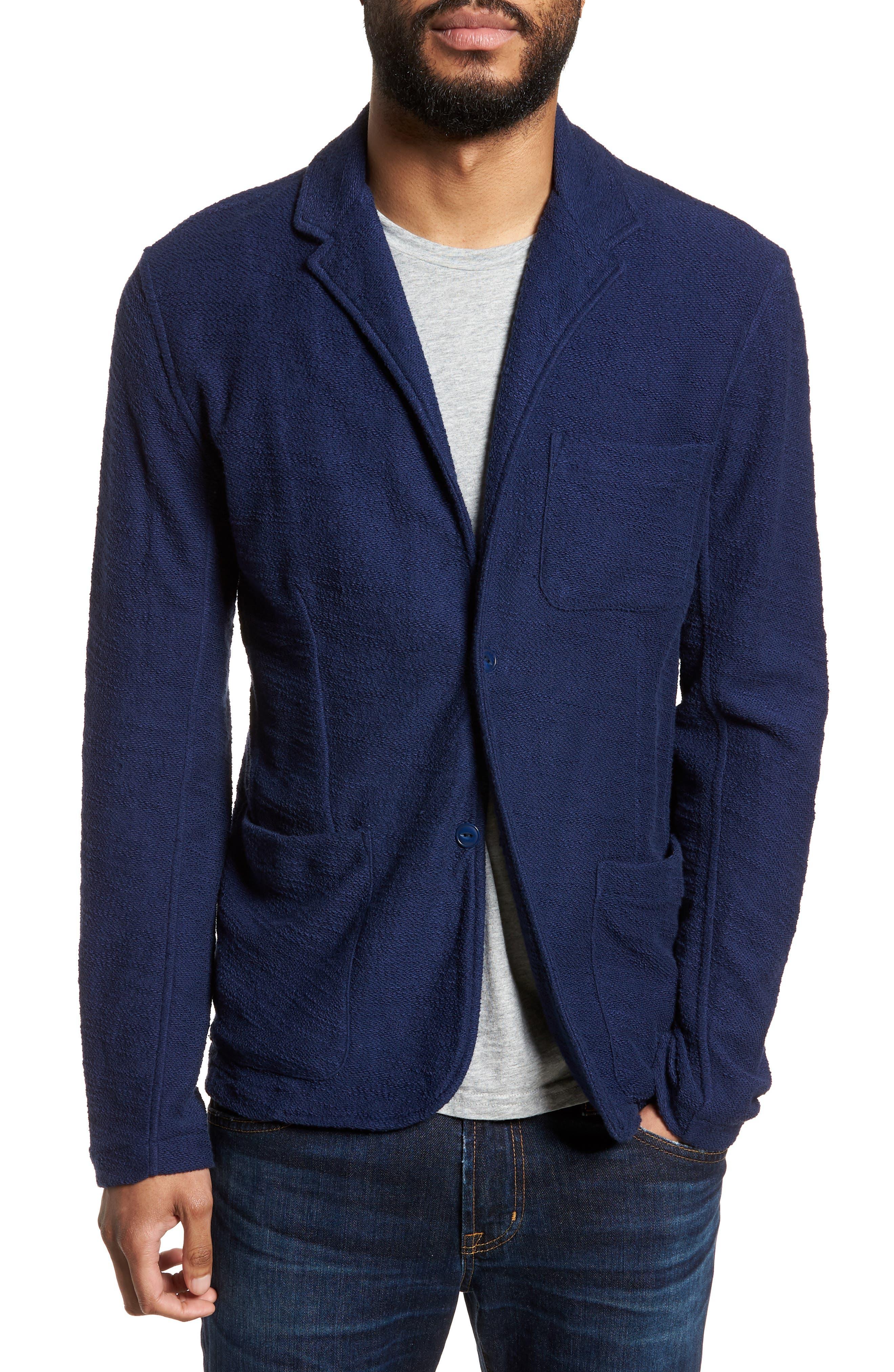 Goodlife Terry Cloth Cotton Blend Blazer