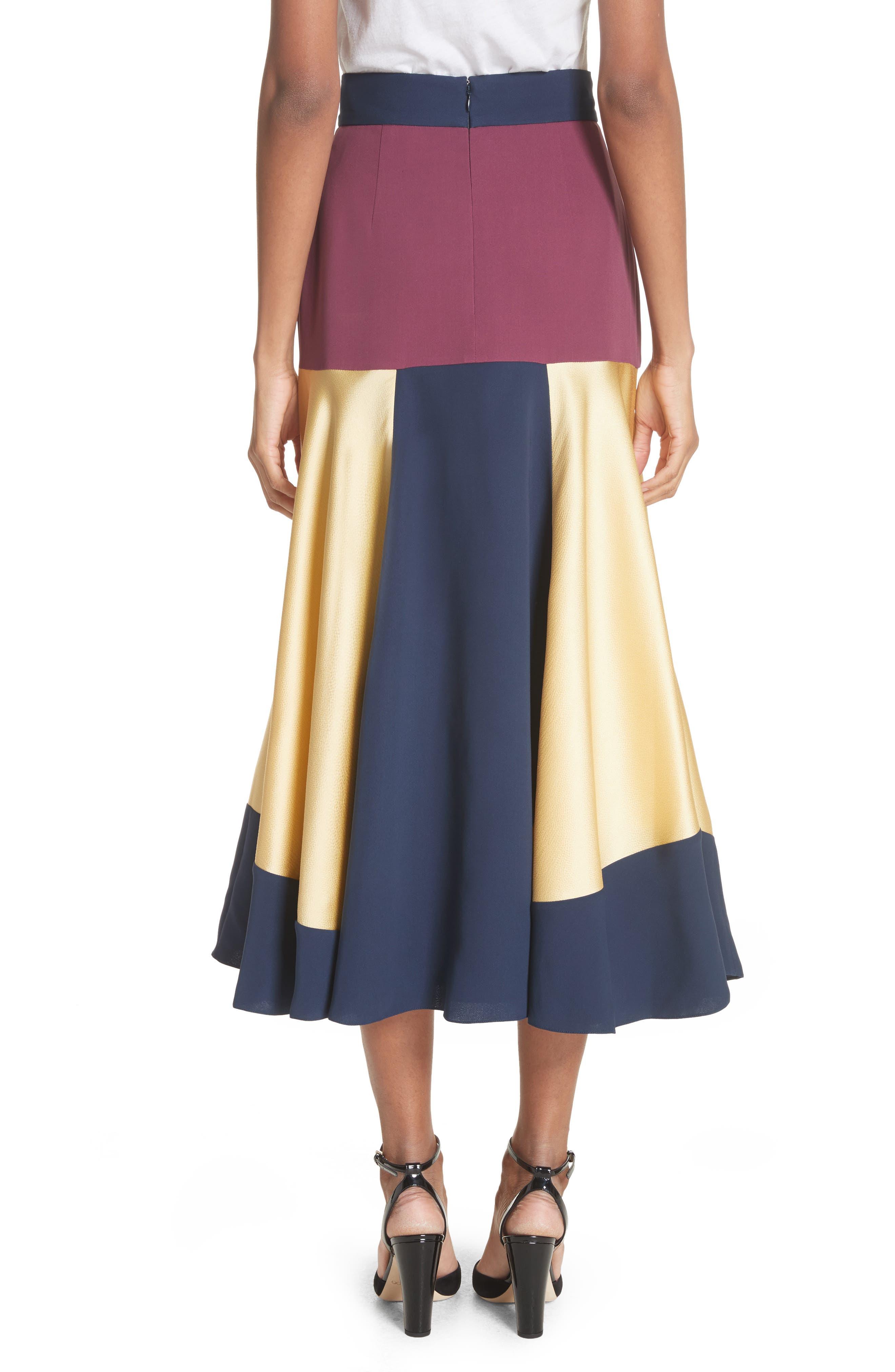 Rania Skirt,                             Alternate thumbnail 2, color,                             Sorbet/ Plum/ Navy