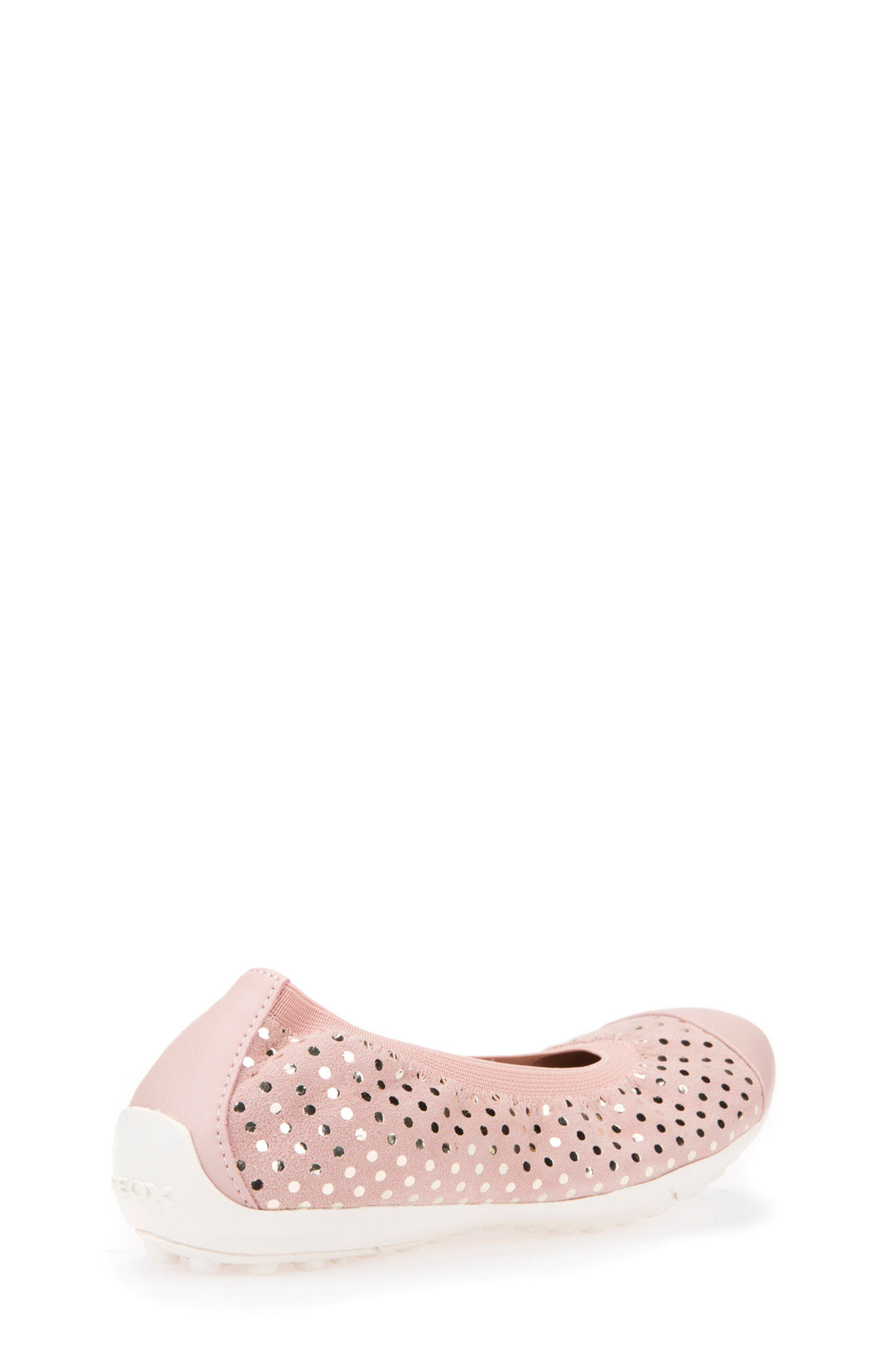 Jr Piuma Cap Toe Ballerina Flat,                             Alternate thumbnail 2, color,                             Rose