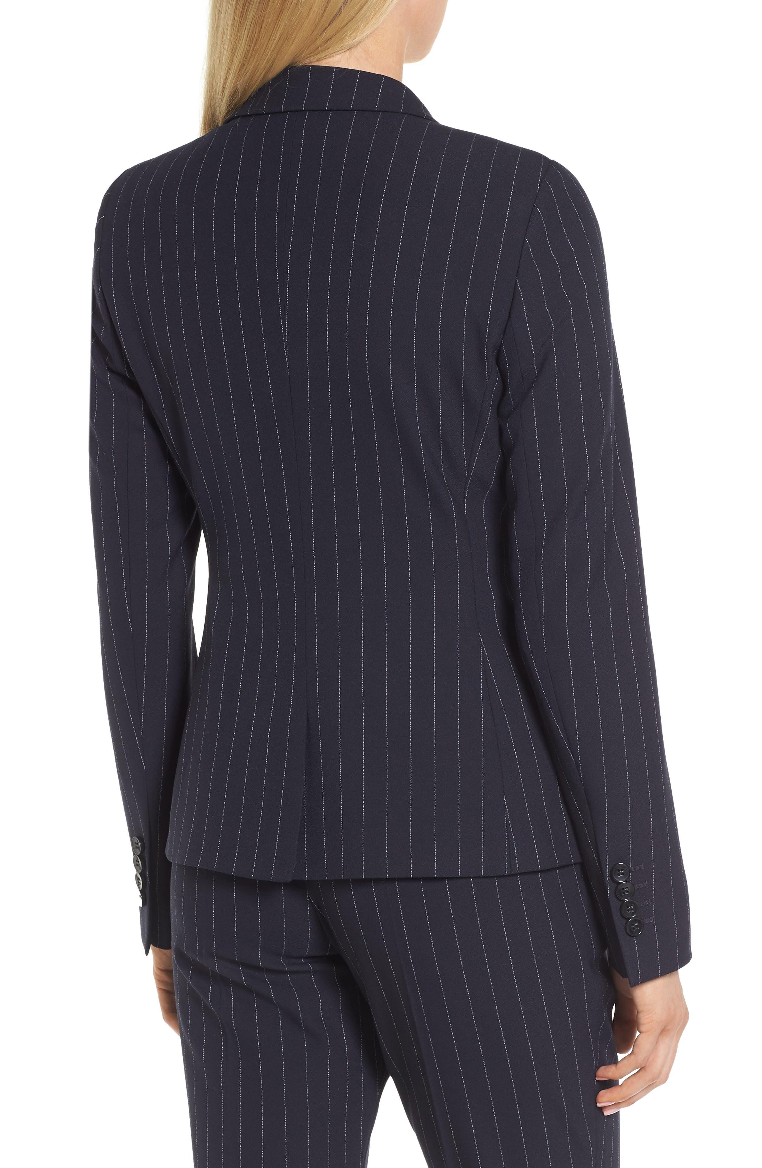 Jelaya Double Breasted Suit Jacket,                             Alternate thumbnail 2, color,                             Navy Fantasy