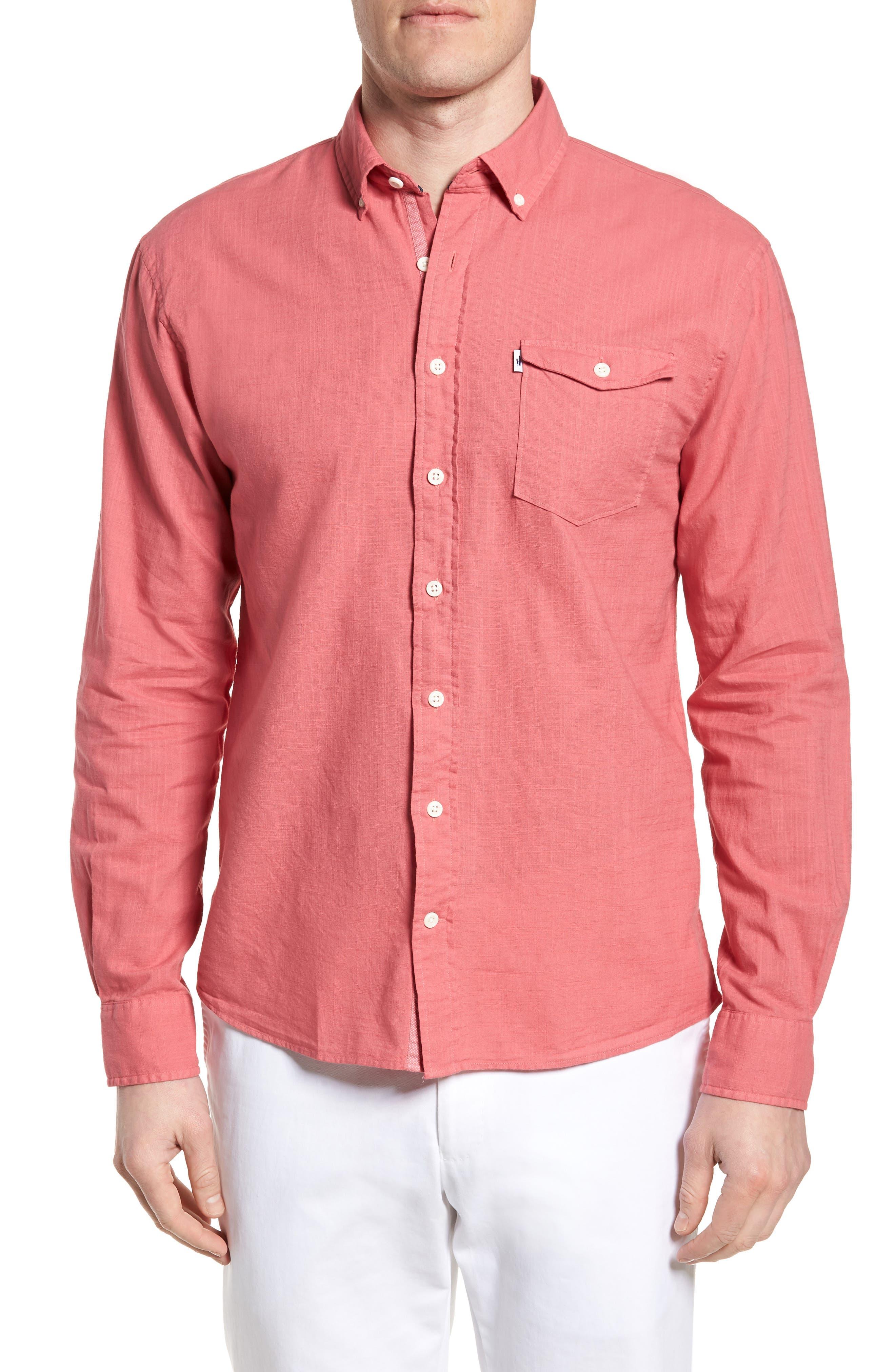 Brodie Regular Fit Sport Shirt,                         Main,                         color, Calypso