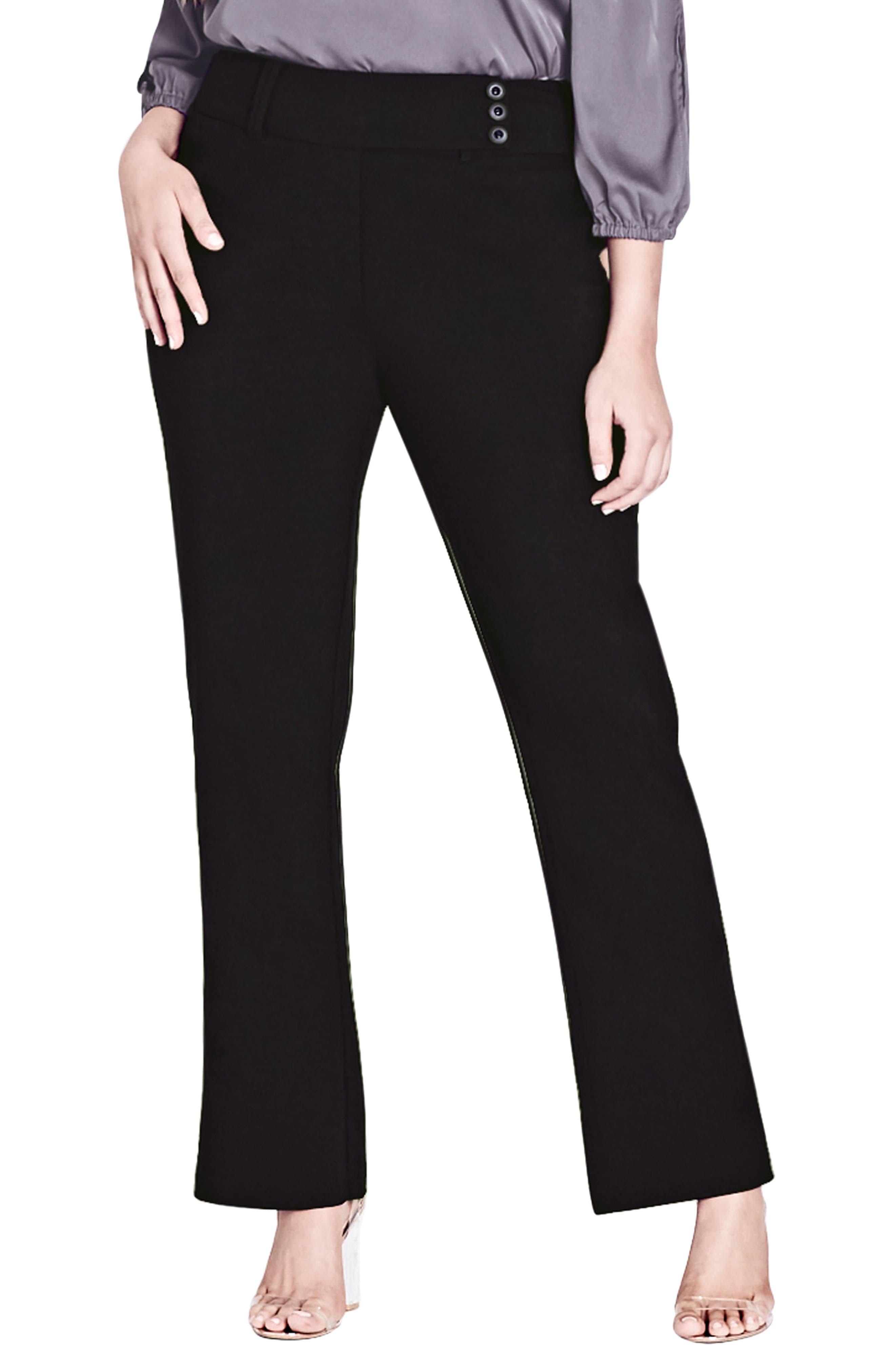 Main Image - City Chic Smart Bengaline Pants (Plus Size)