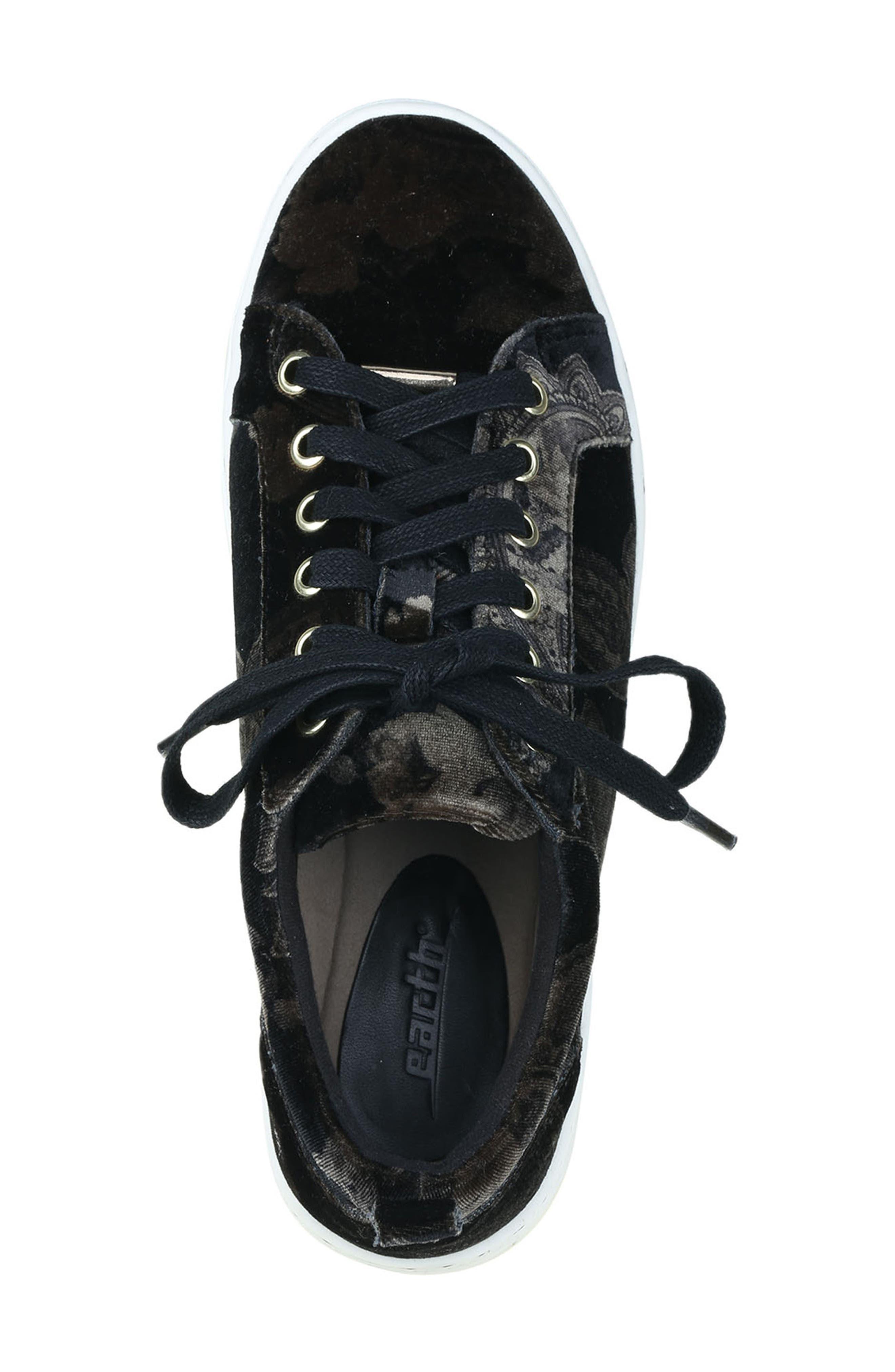 Zag Sneaker,                             Alternate thumbnail 6, color,                             Black Printed Velvet
