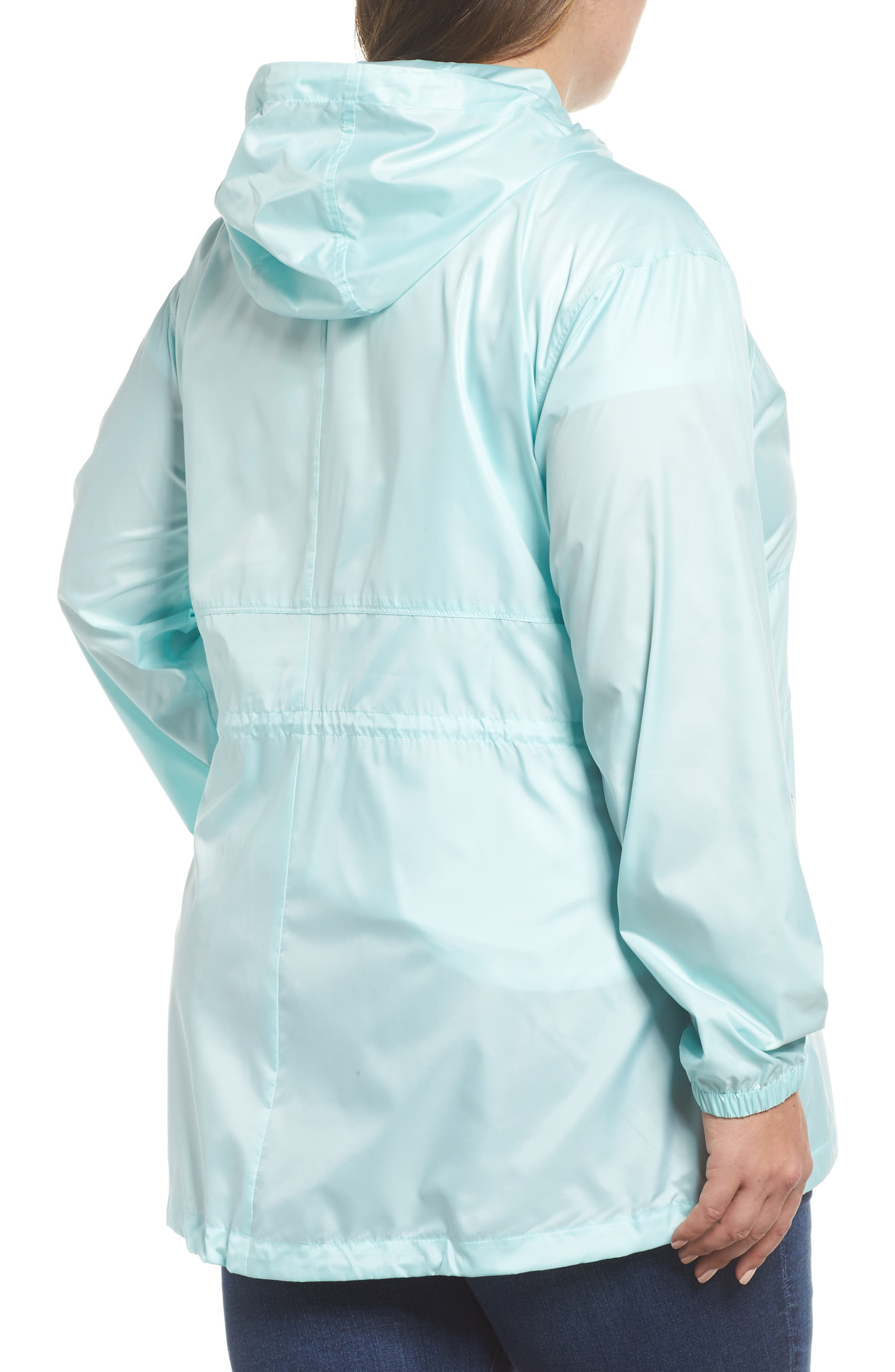 Alternate Image 2  - Columbia Flashback™ Water Resistant Hooded Windbreaker (Plus Size)