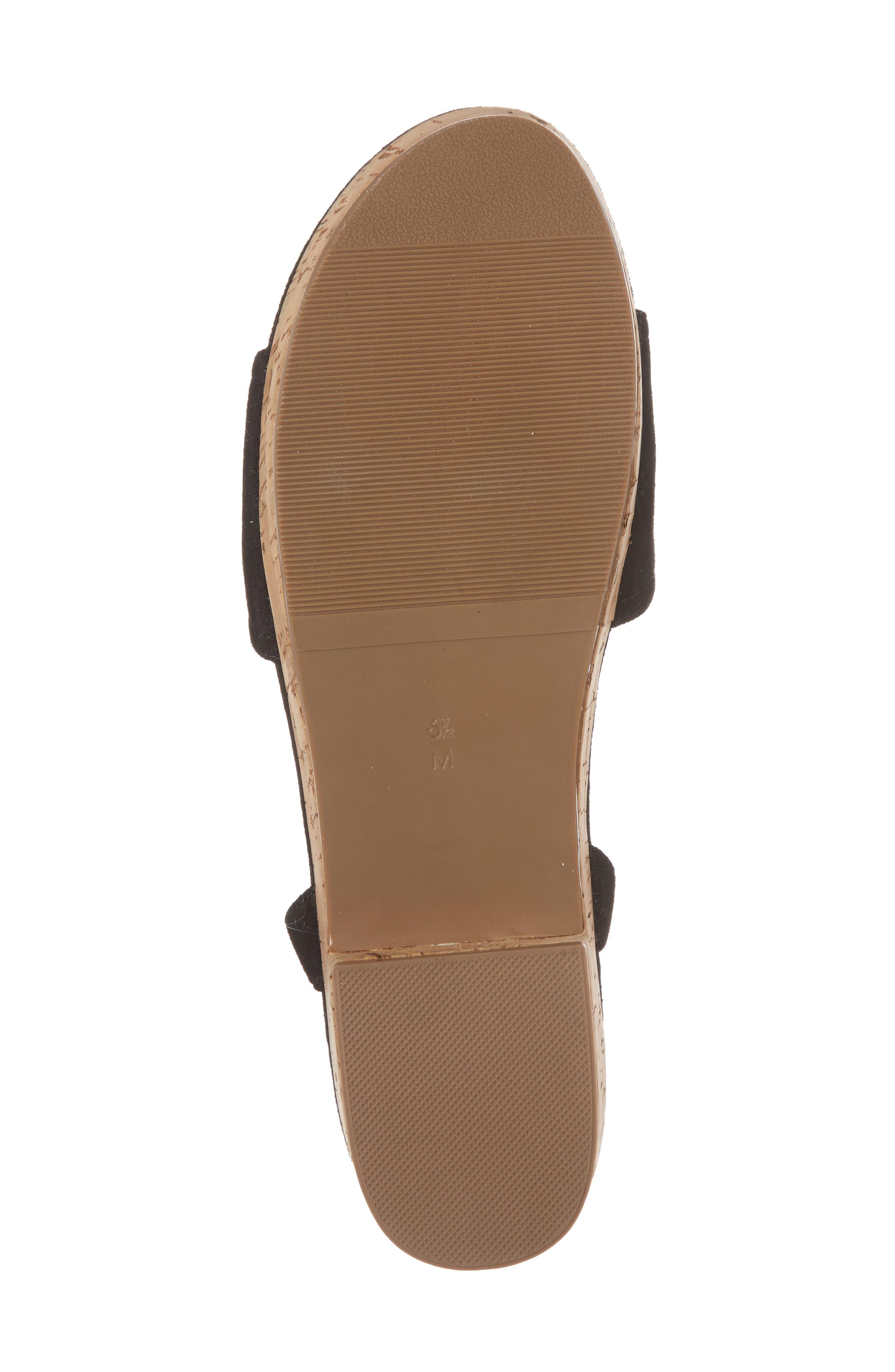 Saba Platform Sandal,                             Alternate thumbnail 6, color,                             Black Printed Suede