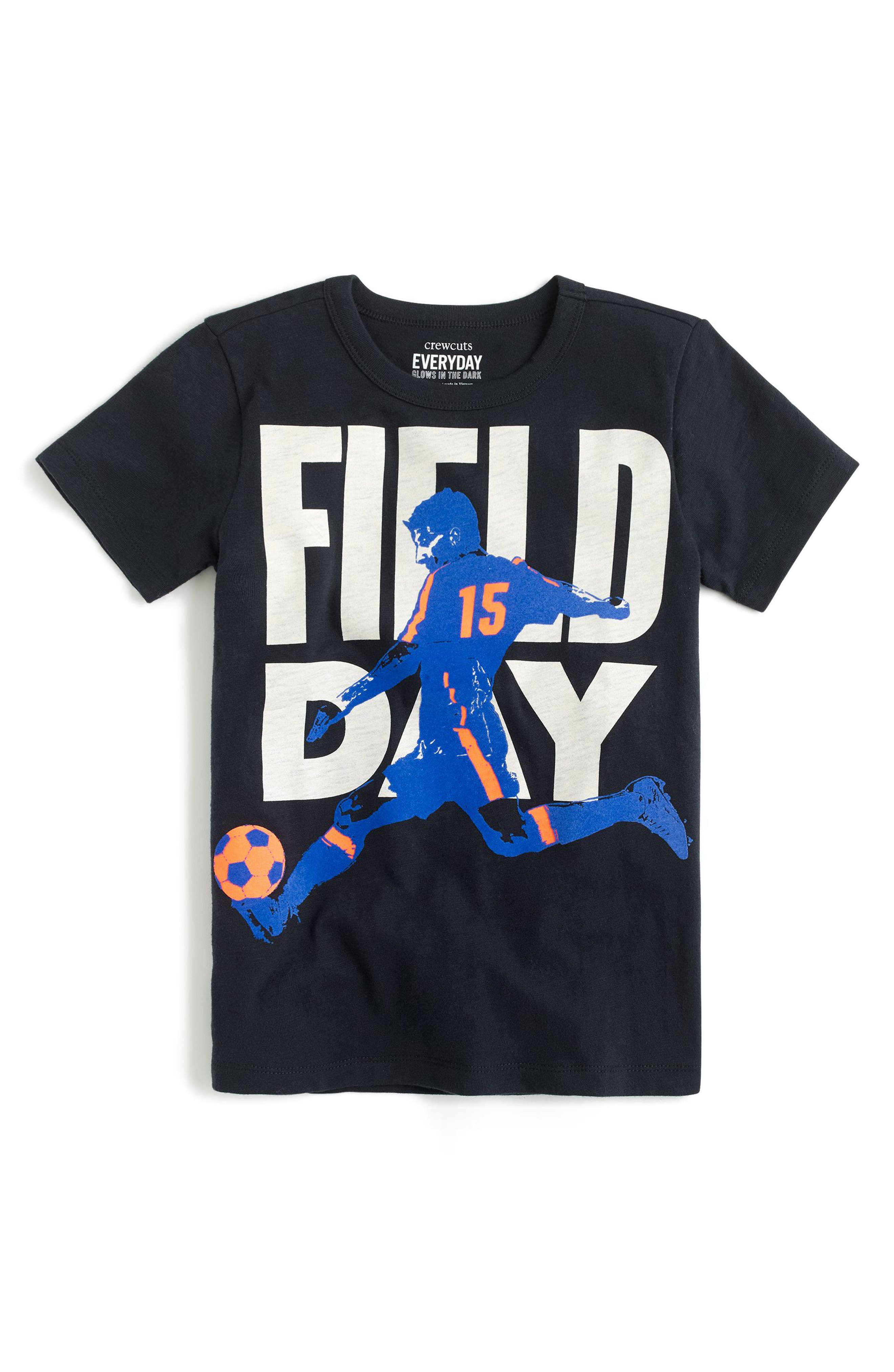 Field Day Graphic T-Shirt,                         Main,                         color, Obsidian