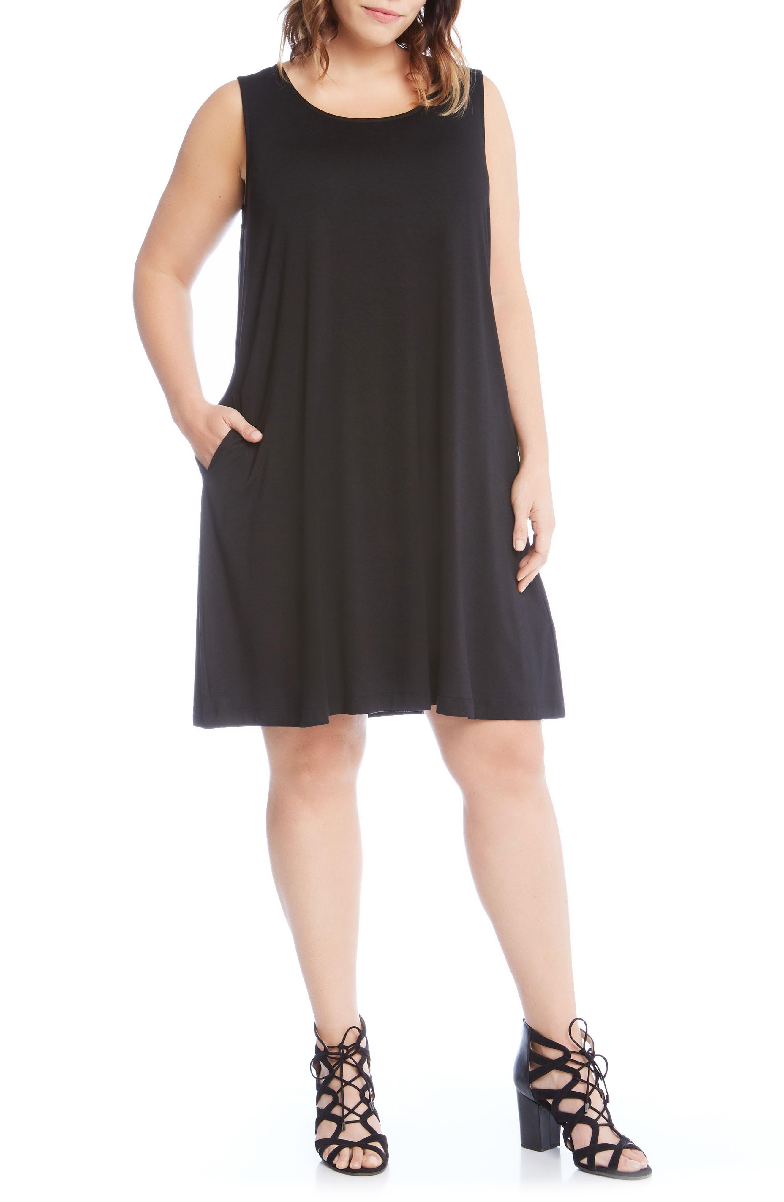 Chloe Swing Dress,                             Main thumbnail 1, color,                             Black
