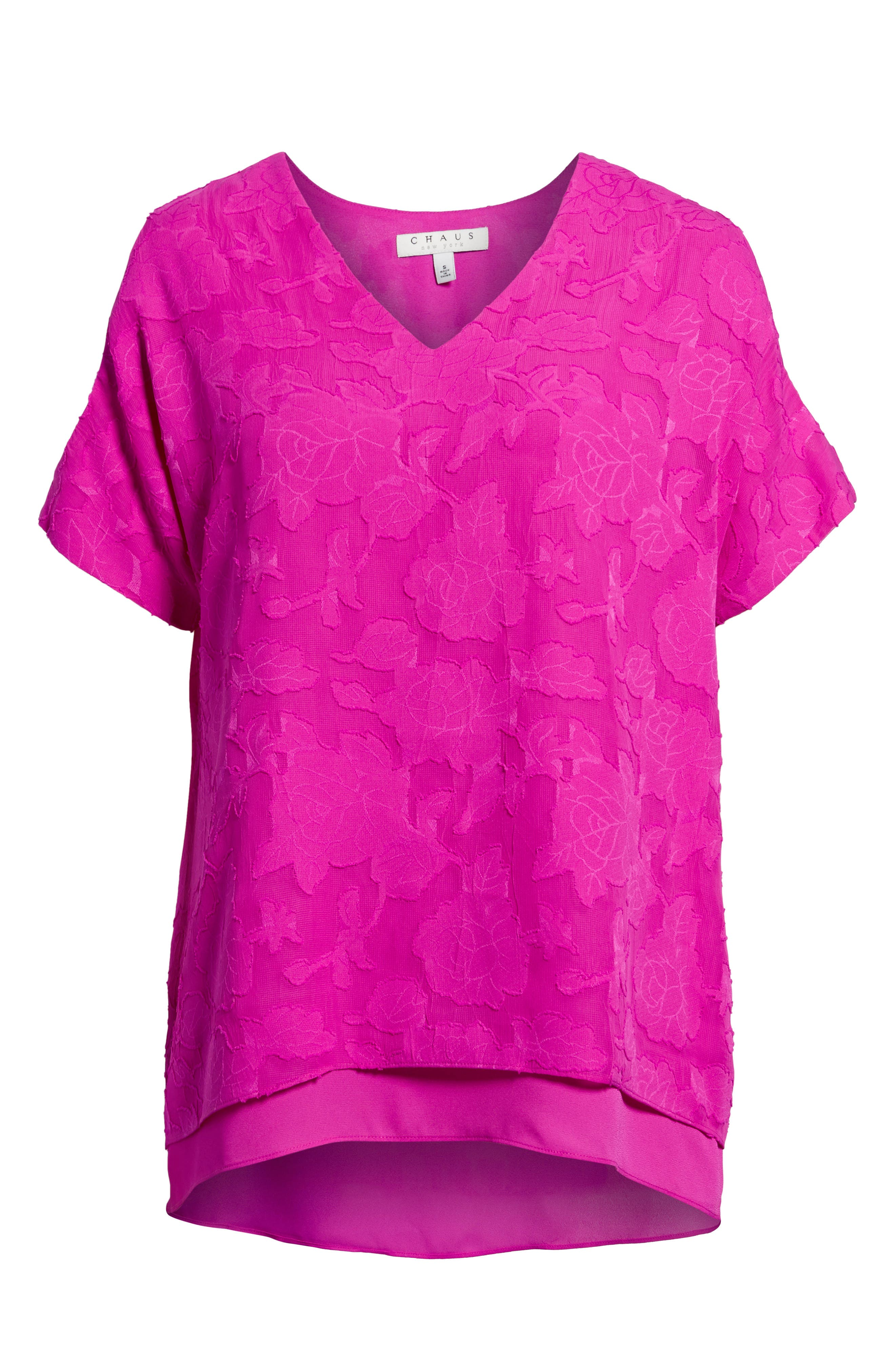 Floral Jacquard Cold Shoulder Top,                             Alternate thumbnail 6, color,                             686-Pink Nouveau