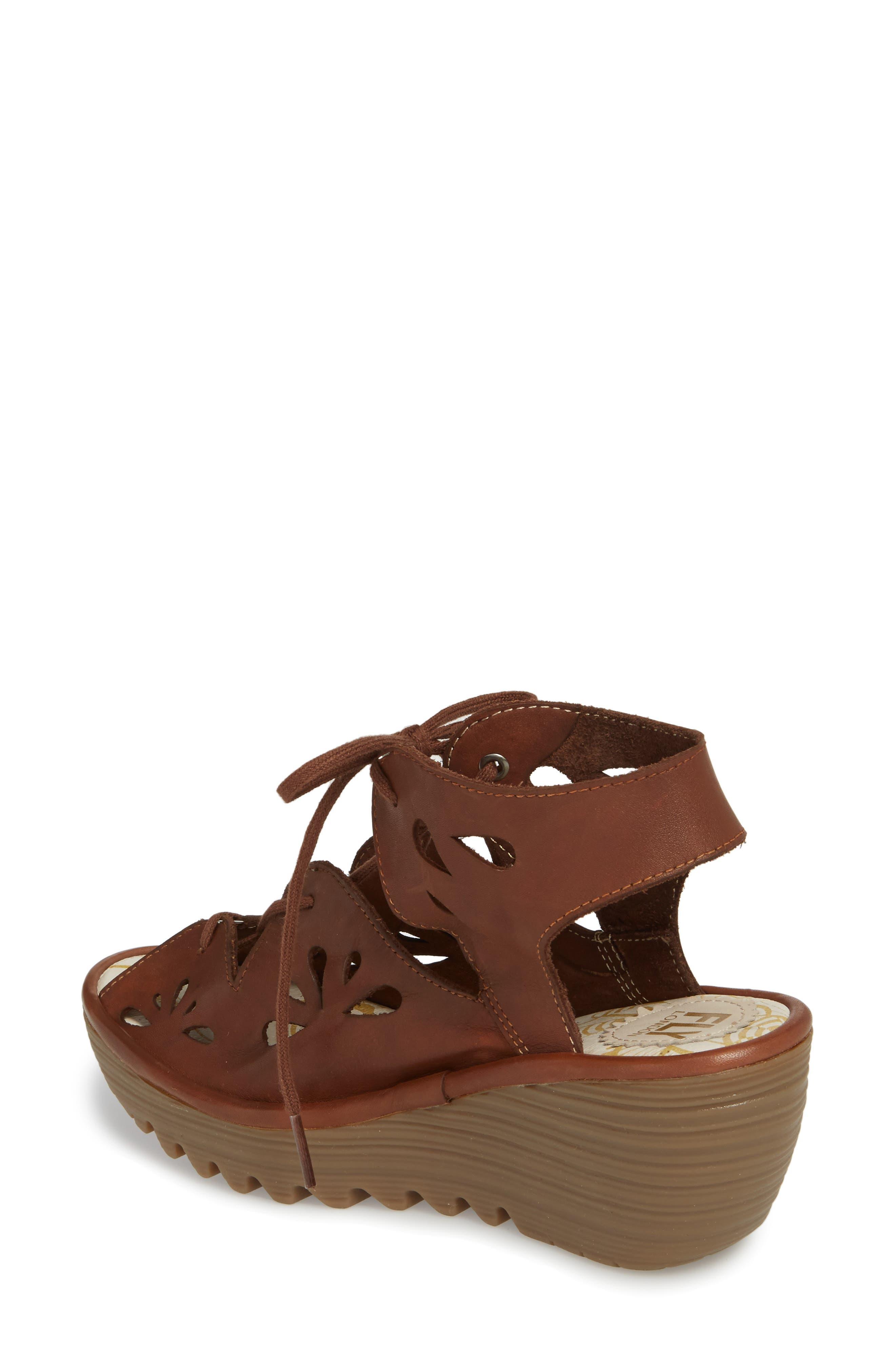 Yote Sandal,                             Alternate thumbnail 2, color,                             Brown Colmar Leather