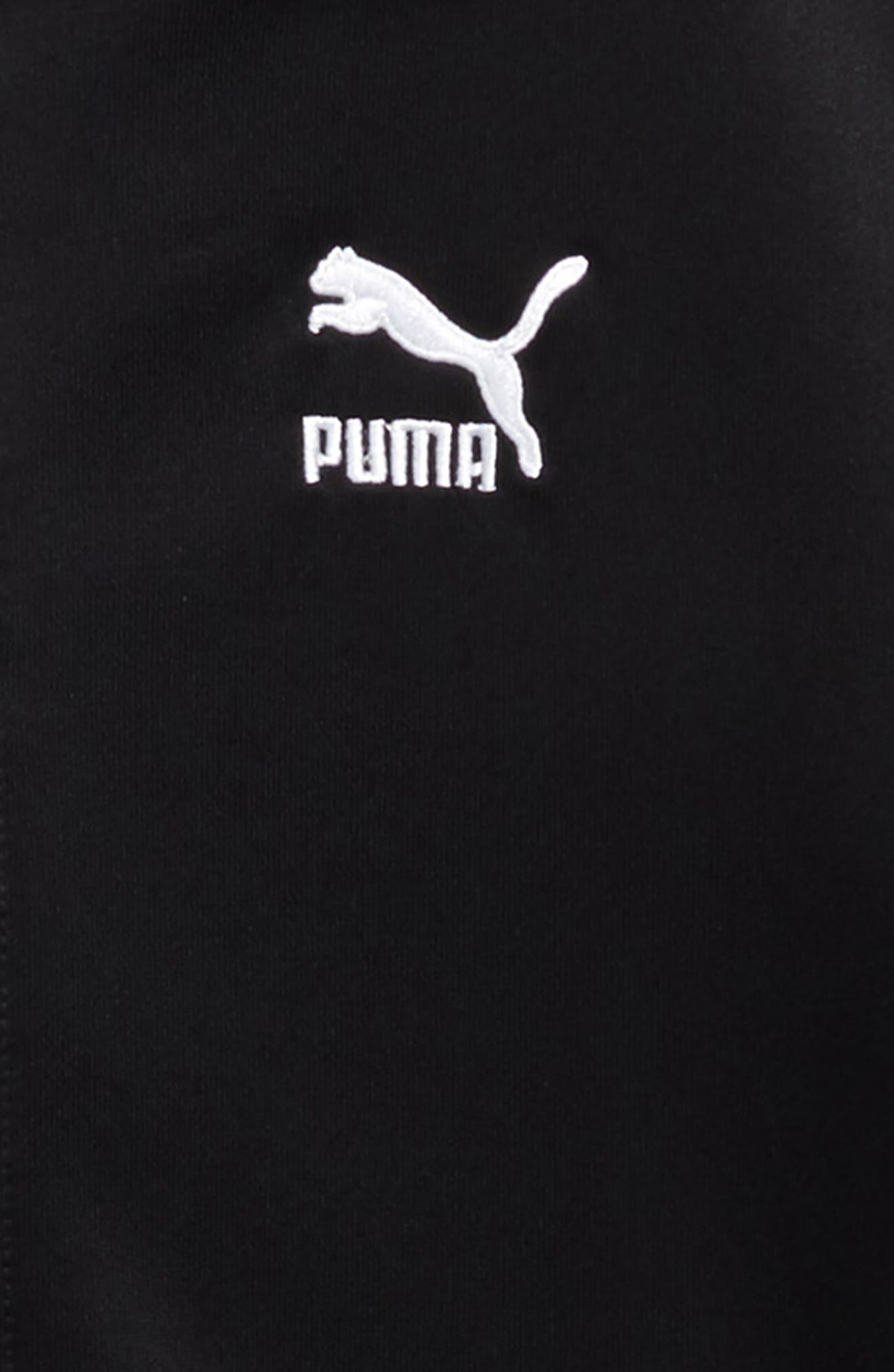 T7 Zip Hoodie,                             Alternate thumbnail 2, color,                             Puma Black