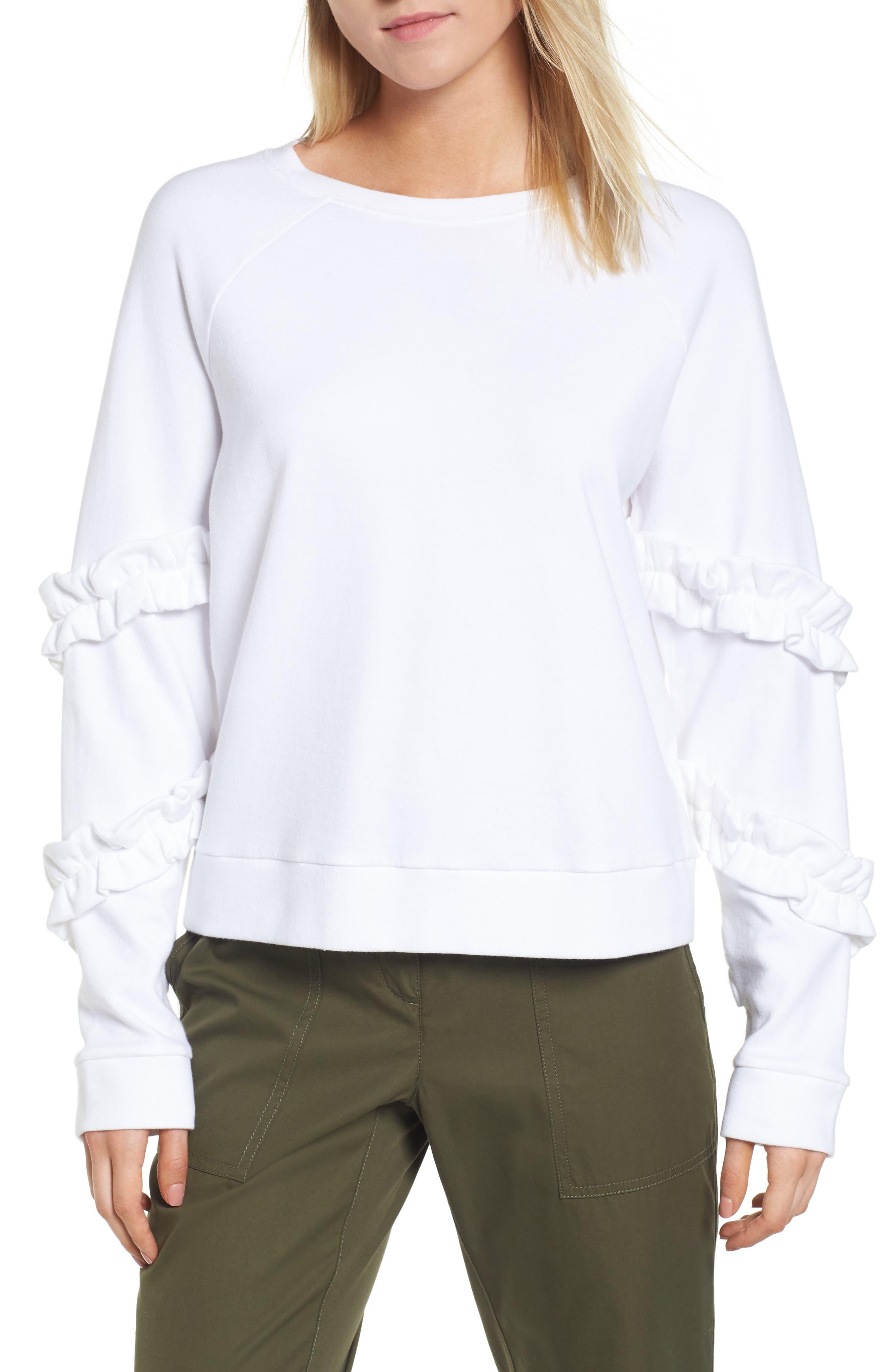 Nordstrom Signature Ruffle Sleeve Sweatshirt