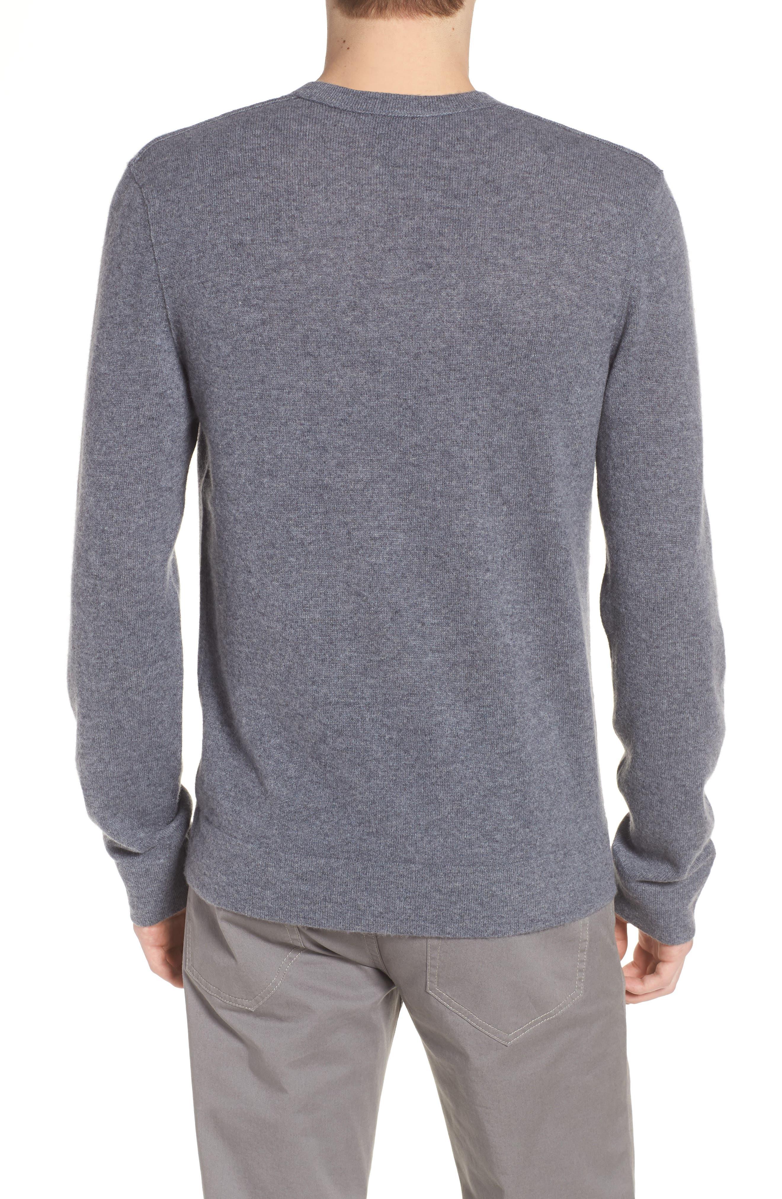Cashmere V-Neck Sweater,                             Alternate thumbnail 2, color,                             Flannel