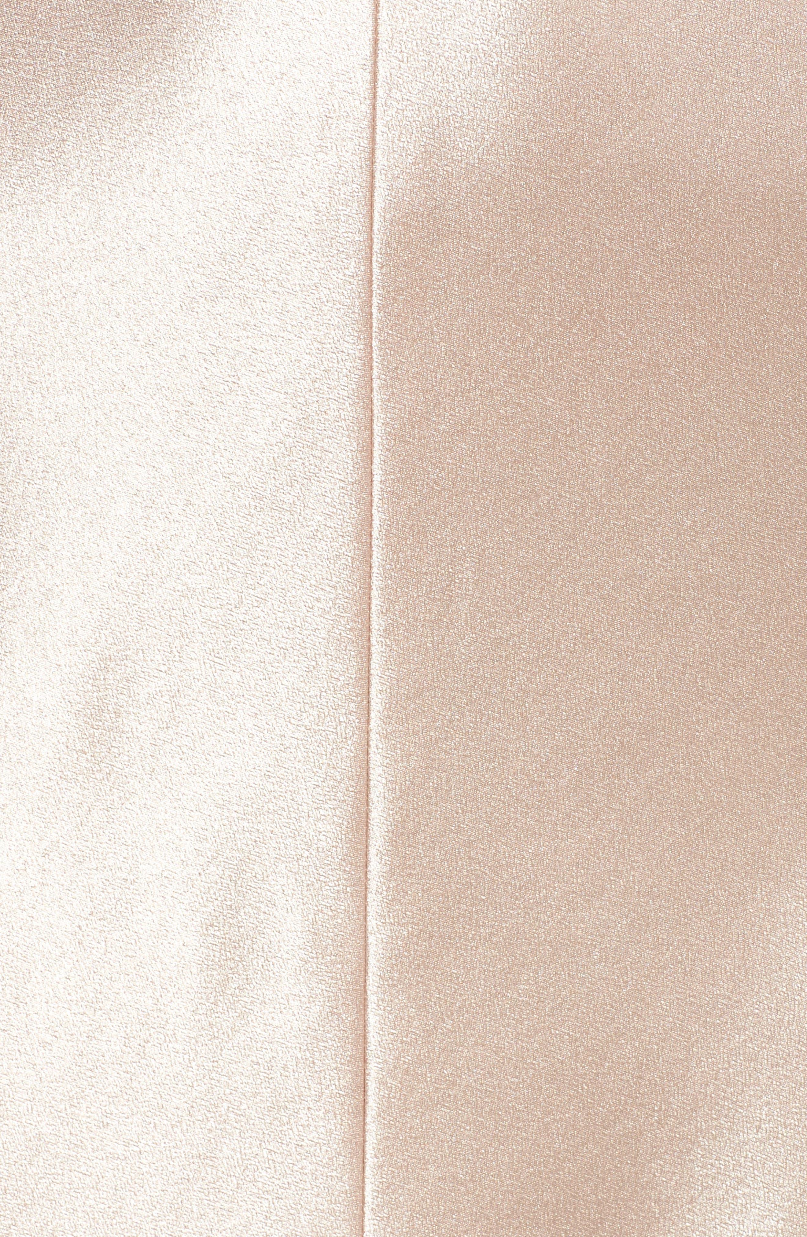 Corrine Satin Crepe Halter Gown,                             Alternate thumbnail 5, color,                             Petal