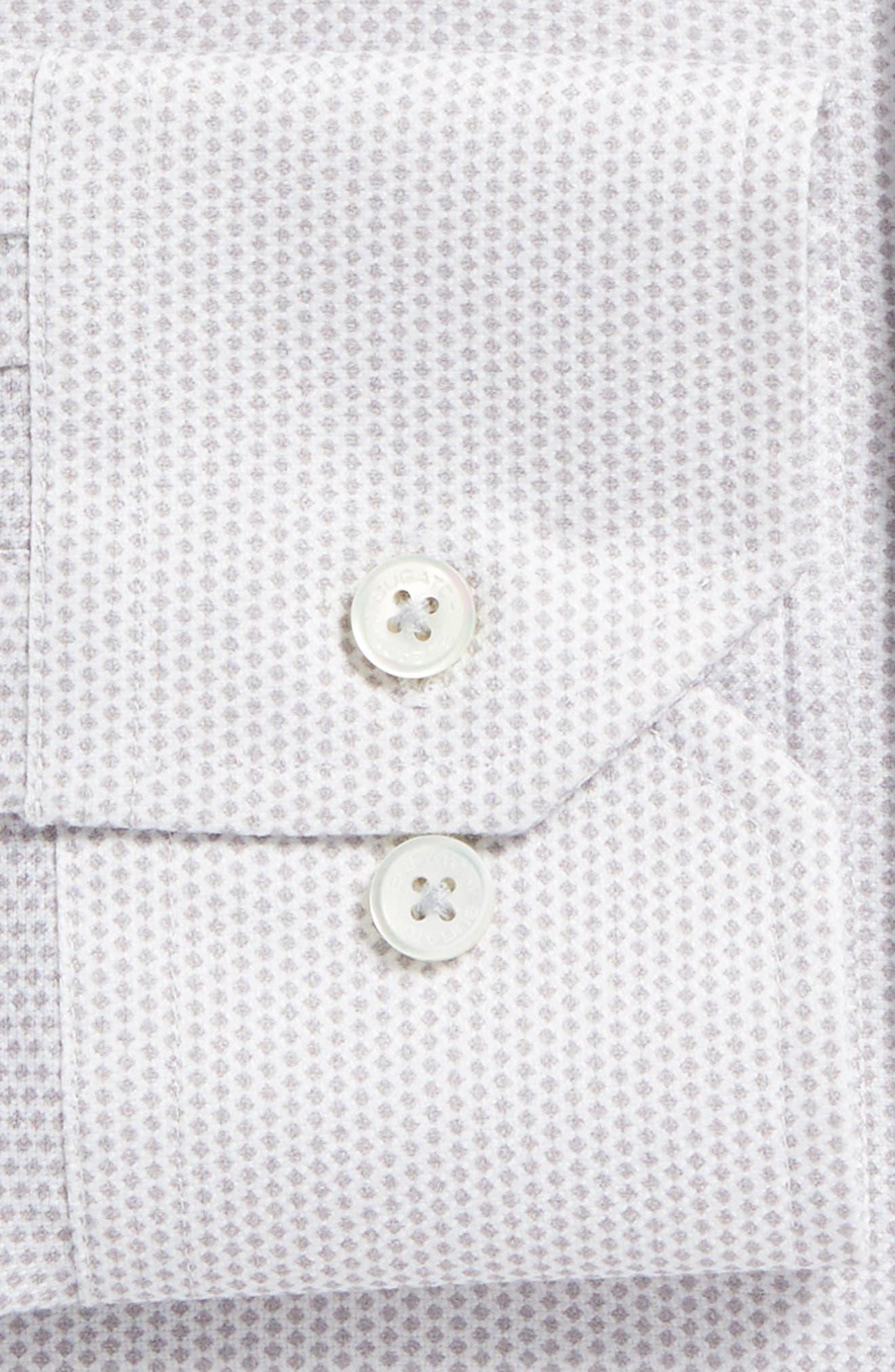 Trim Fit Geometric Dress Shirt,                             Alternate thumbnail 2, color,                             Platinum