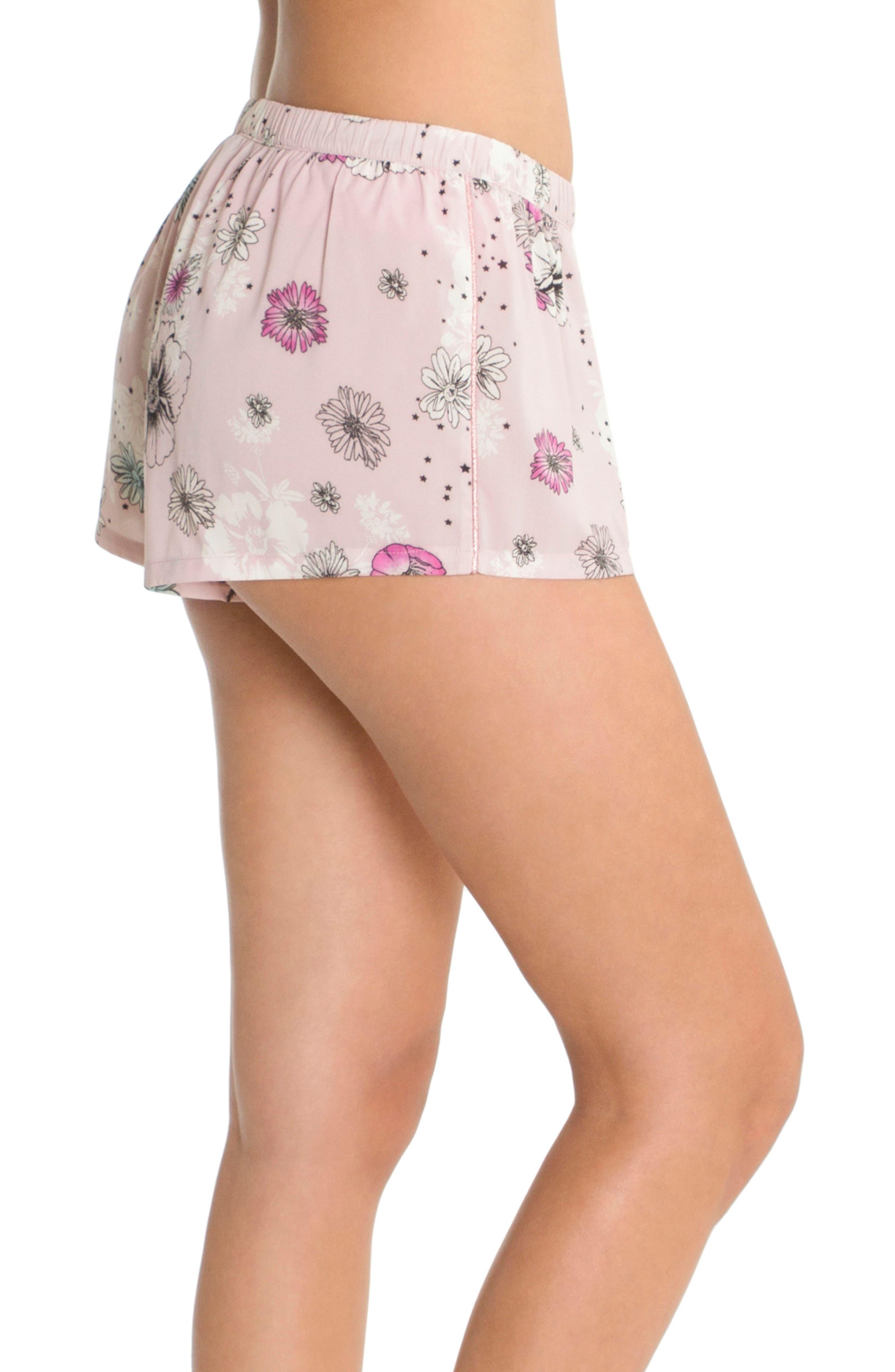 Print Pajama Shorts,                             Alternate thumbnail 3, color,                             Lilac