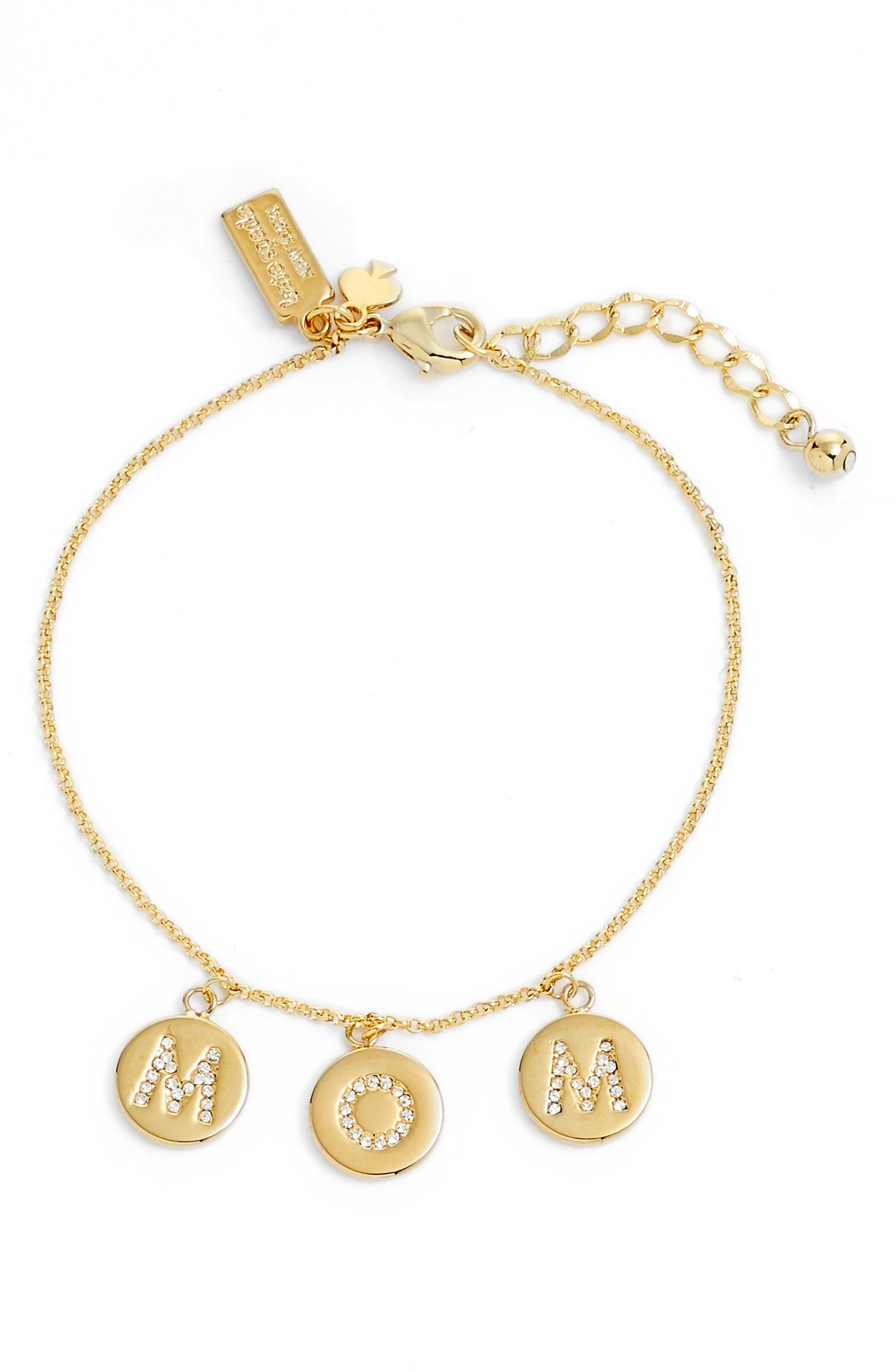 kate spade new york mom knows best pavé charm bracelet