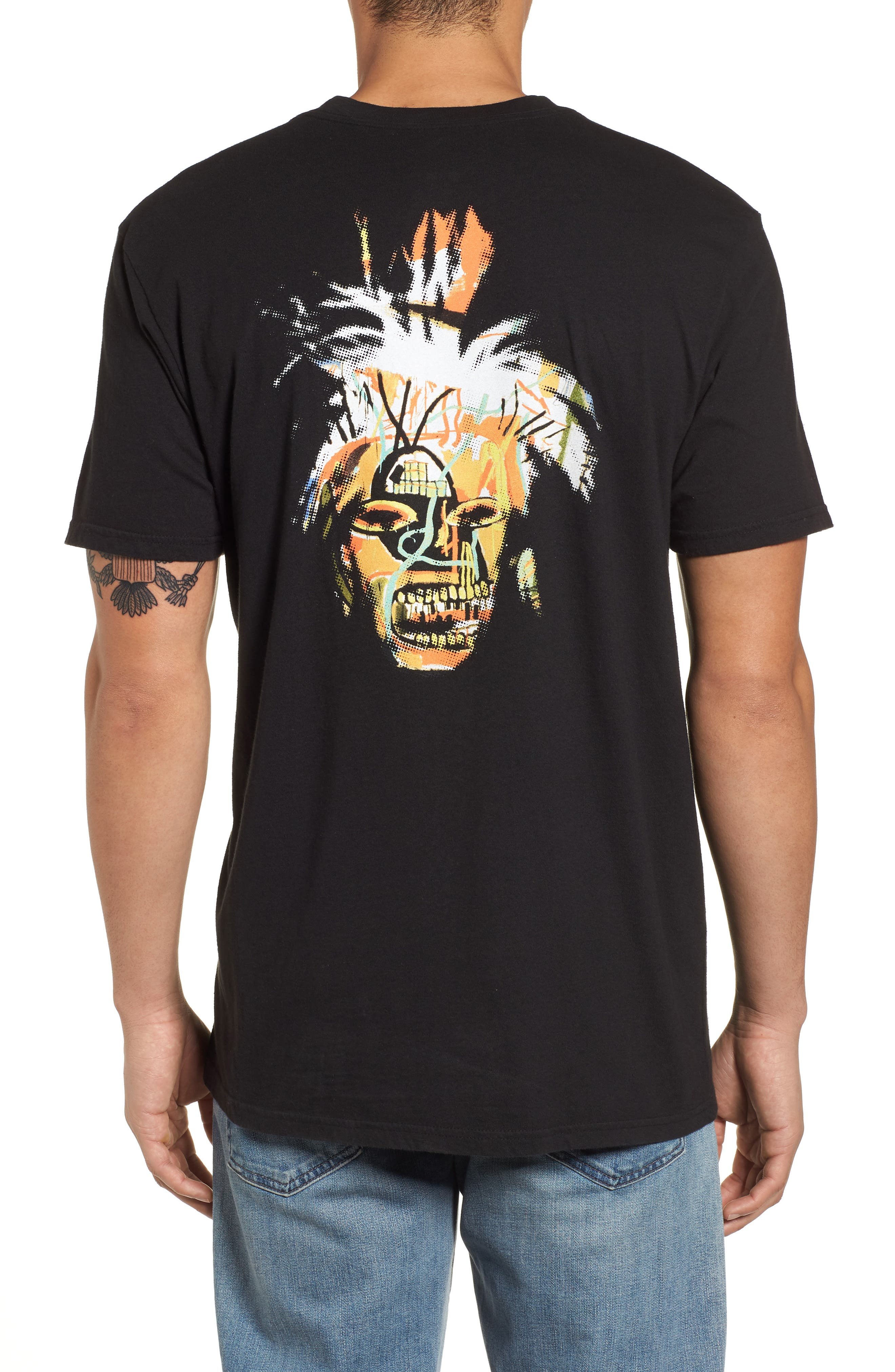 Fright Wig T-Shirt,                             Alternate thumbnail 2, color,                             Black