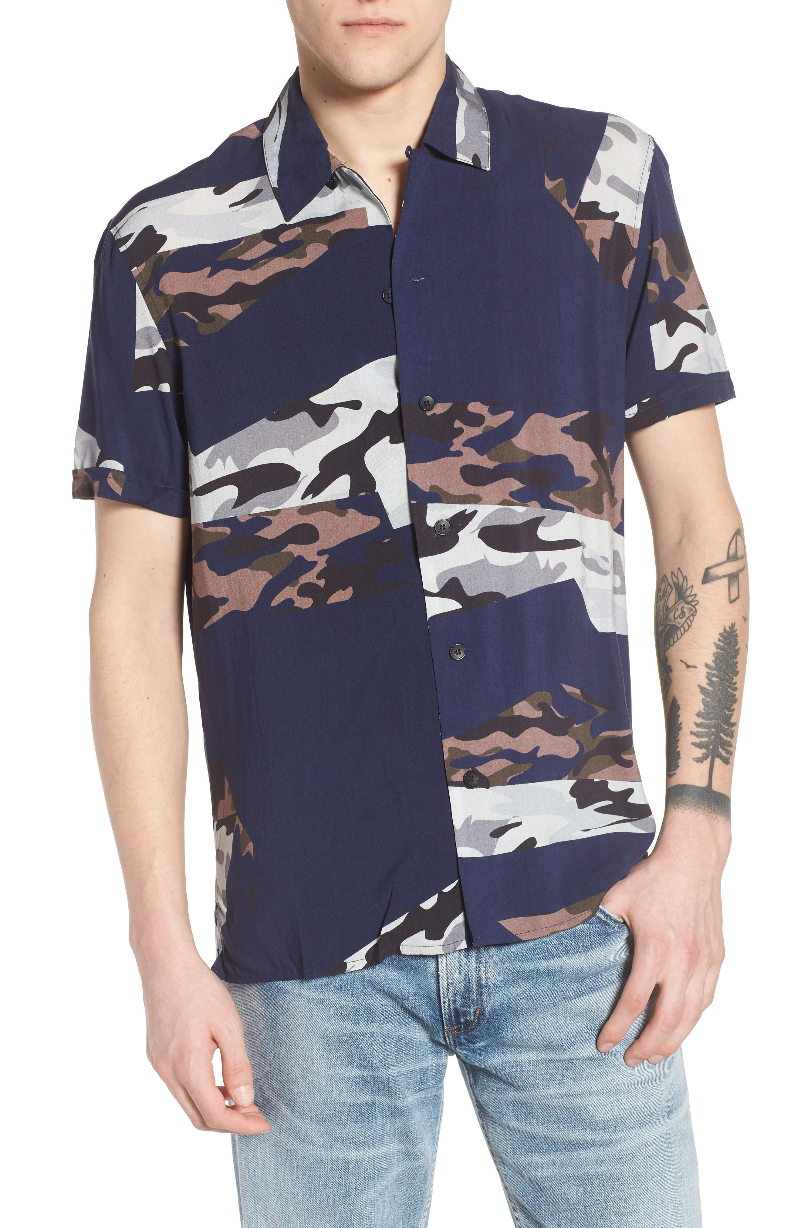 ELEVENPARIS Spatial Print Woven Shirt