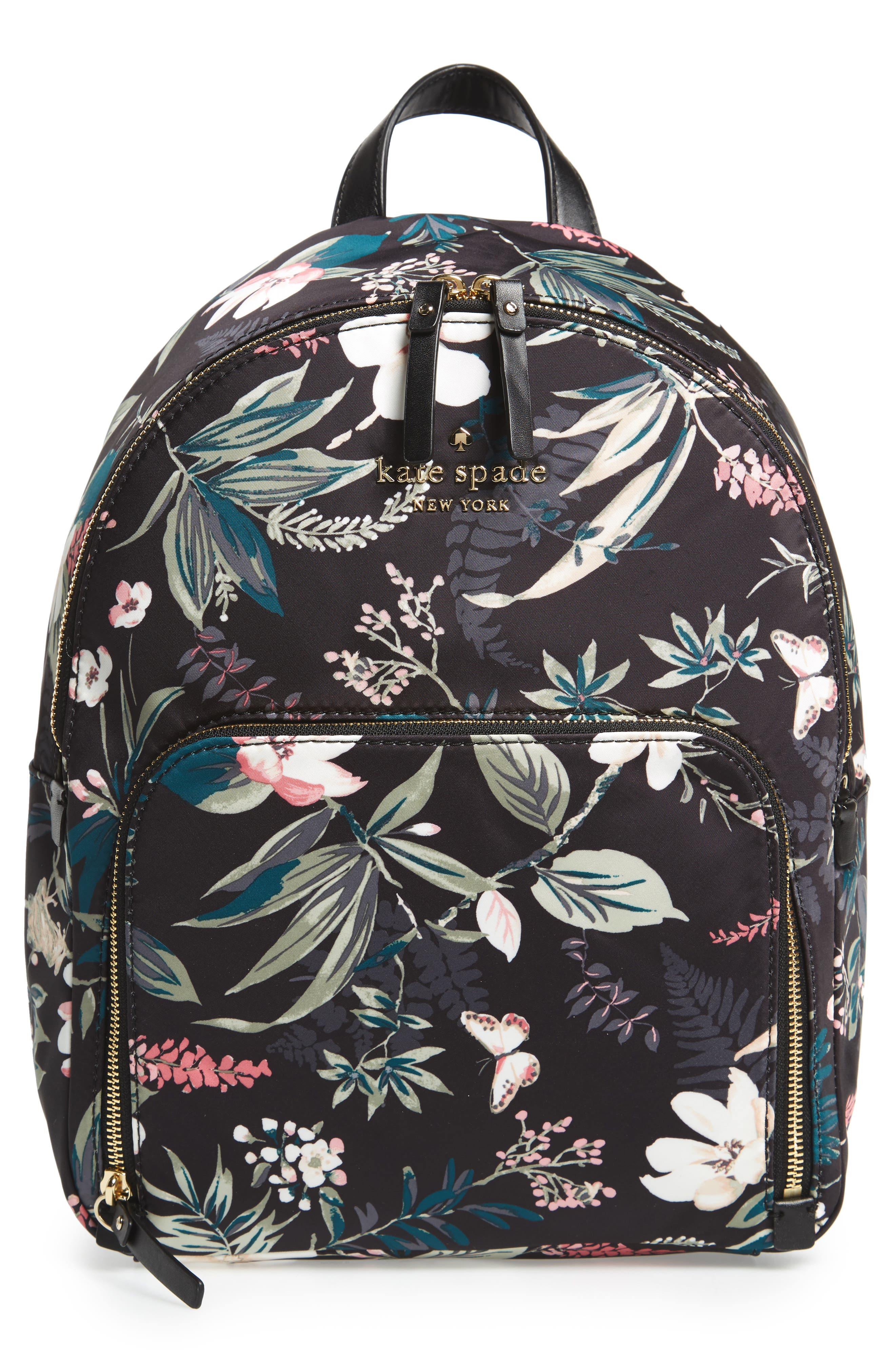 d0859f4ebd6a Kate Spade Watson Lane - Botanical Hartley Nylon Backpack - Black In Black  Multi
