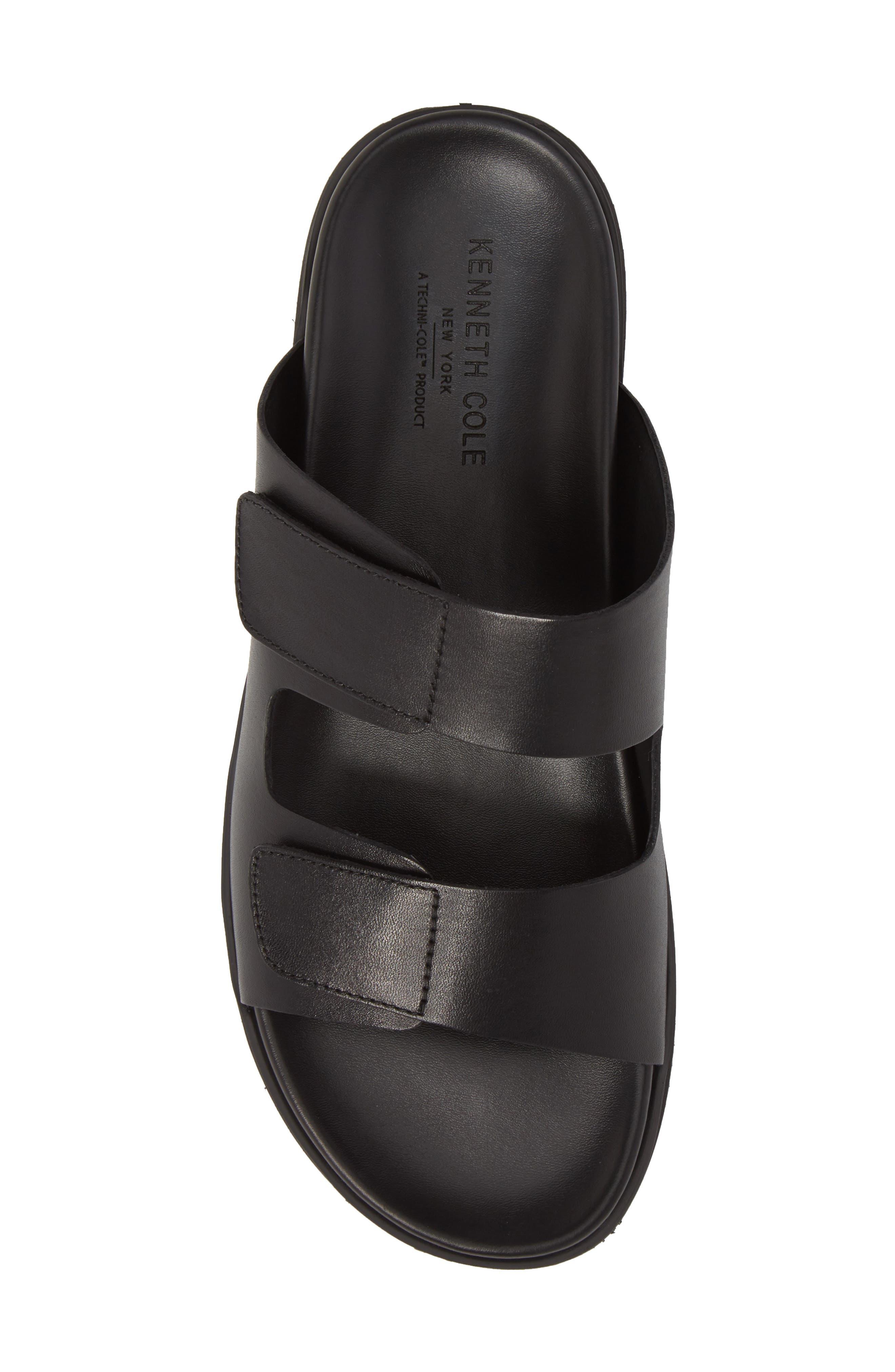 Story Slide Sandal,                             Alternate thumbnail 5, color,                             Black Leather
