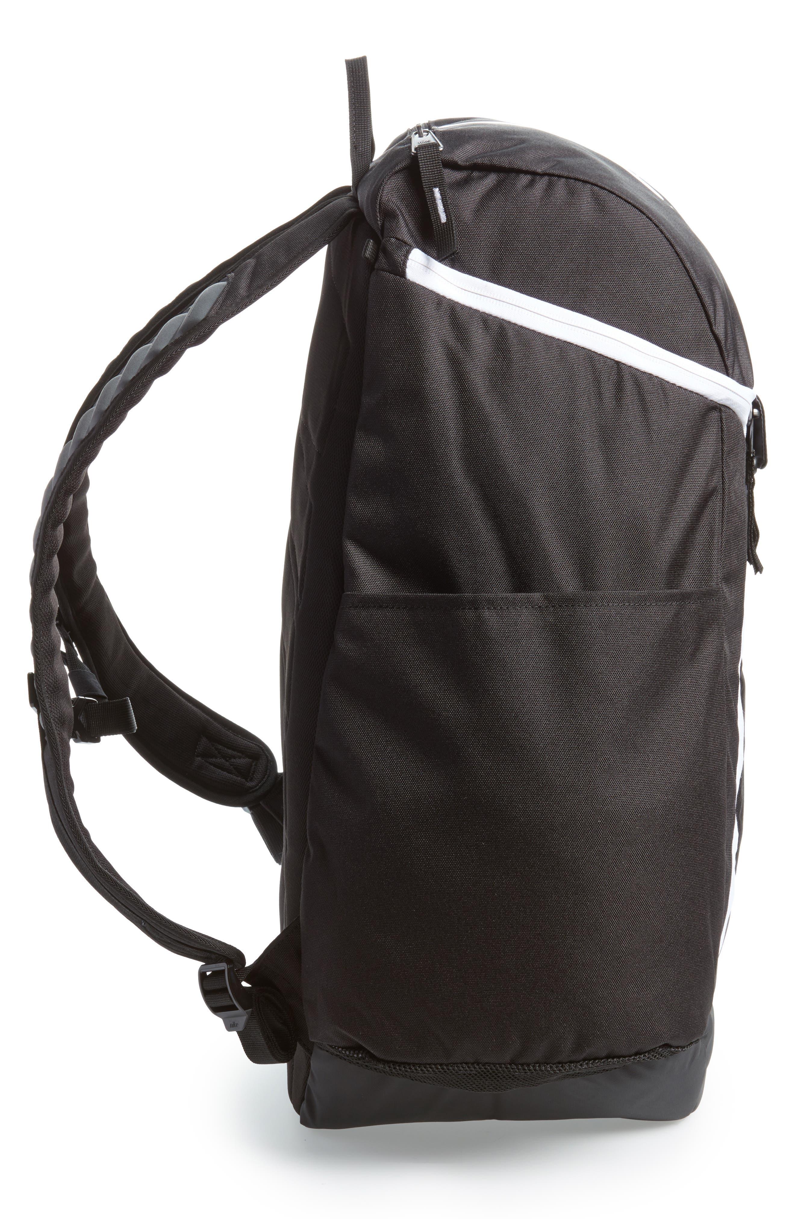 Hoops Elite Max Air Team Backpack,                             Alternate thumbnail 4, color,                             Black / White
