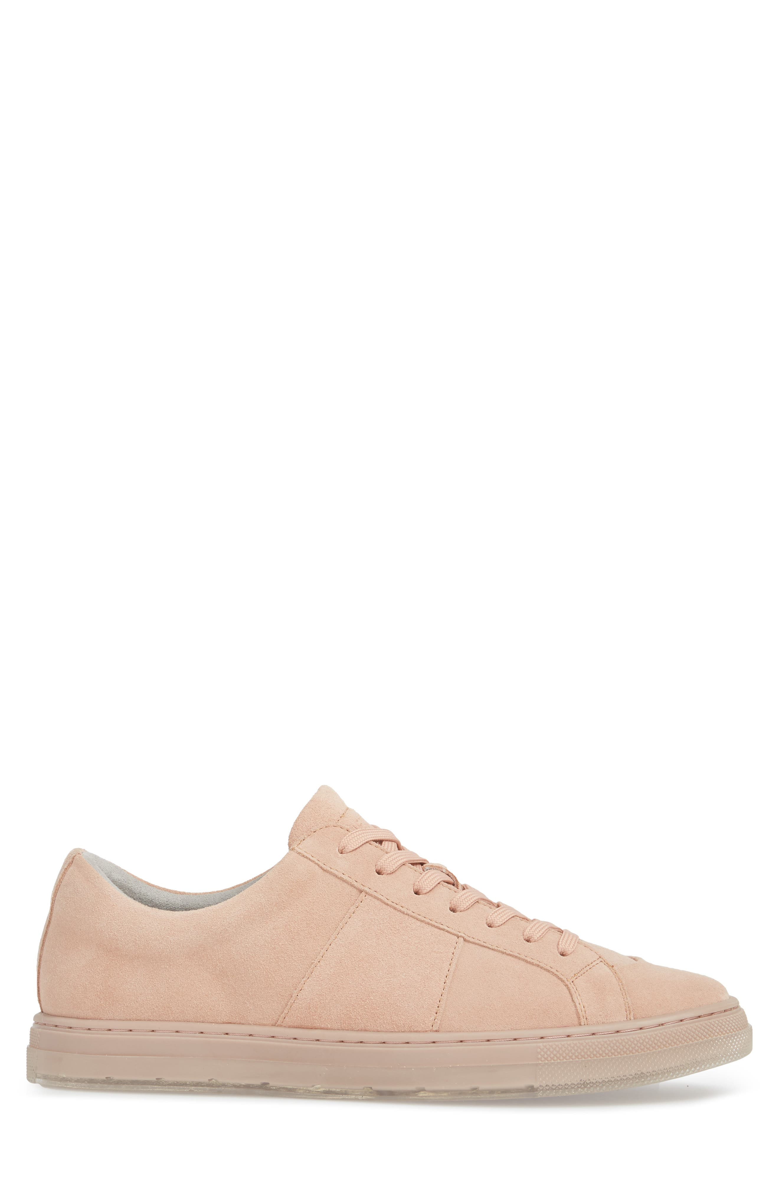Colvin Sneaker,                             Alternate thumbnail 3, color,                             Rose Suede