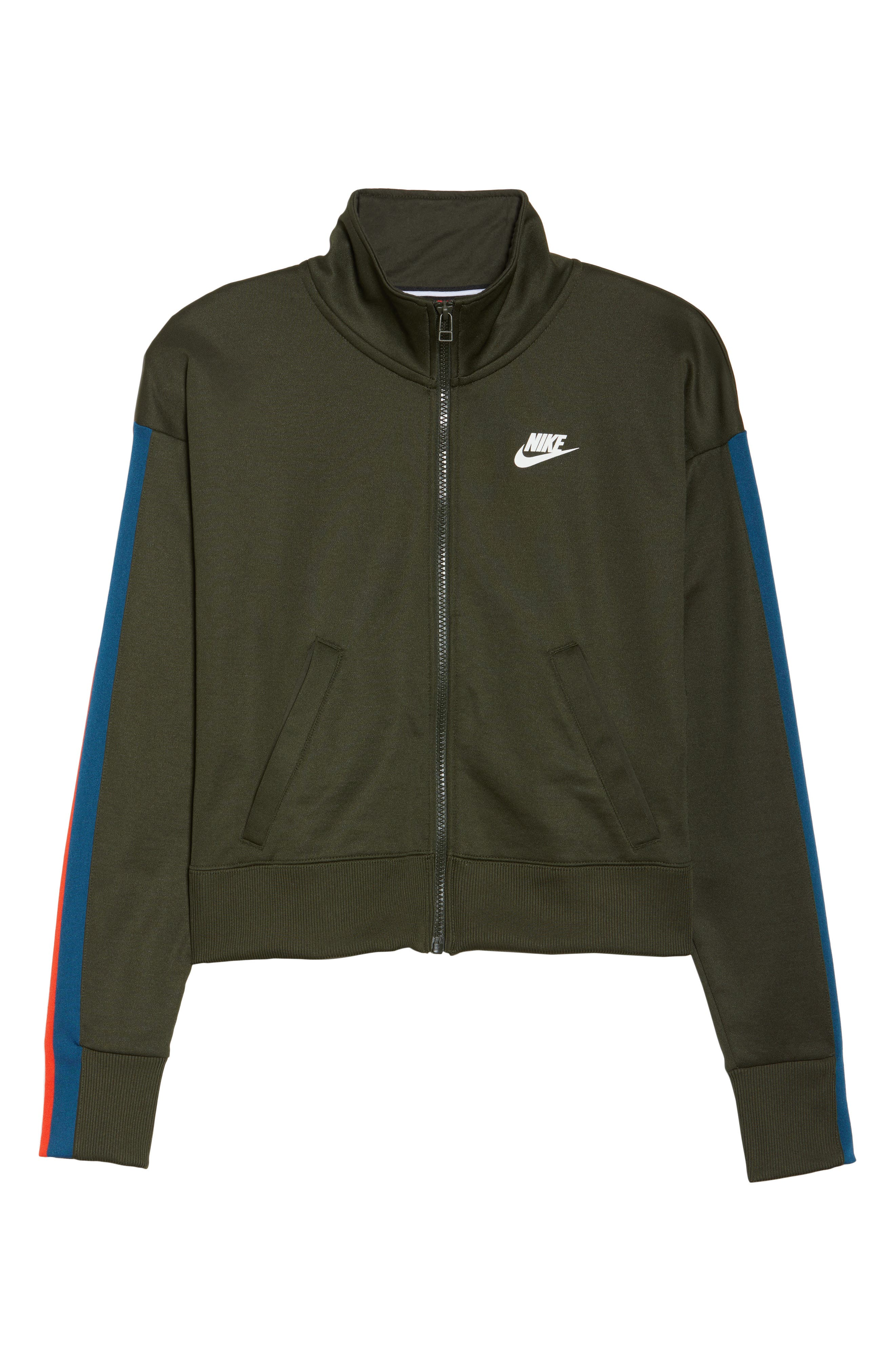 Sportswear Crop Jacket,                             Alternate thumbnail 7, color,                             Sequoia/ Sail