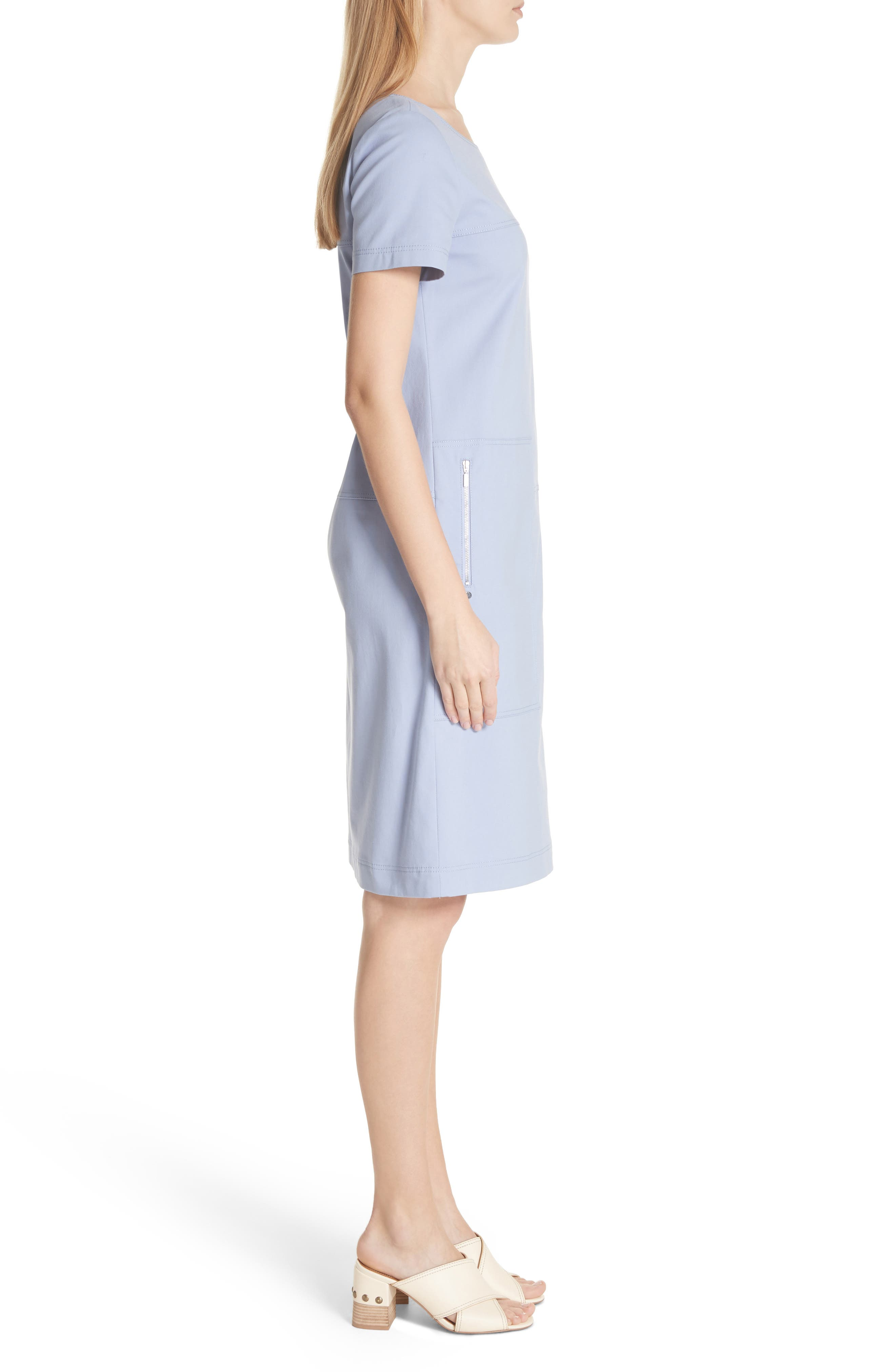 Farah Catalina Stretch Canvas Dress,                             Alternate thumbnail 3, color,                             Periwinkle