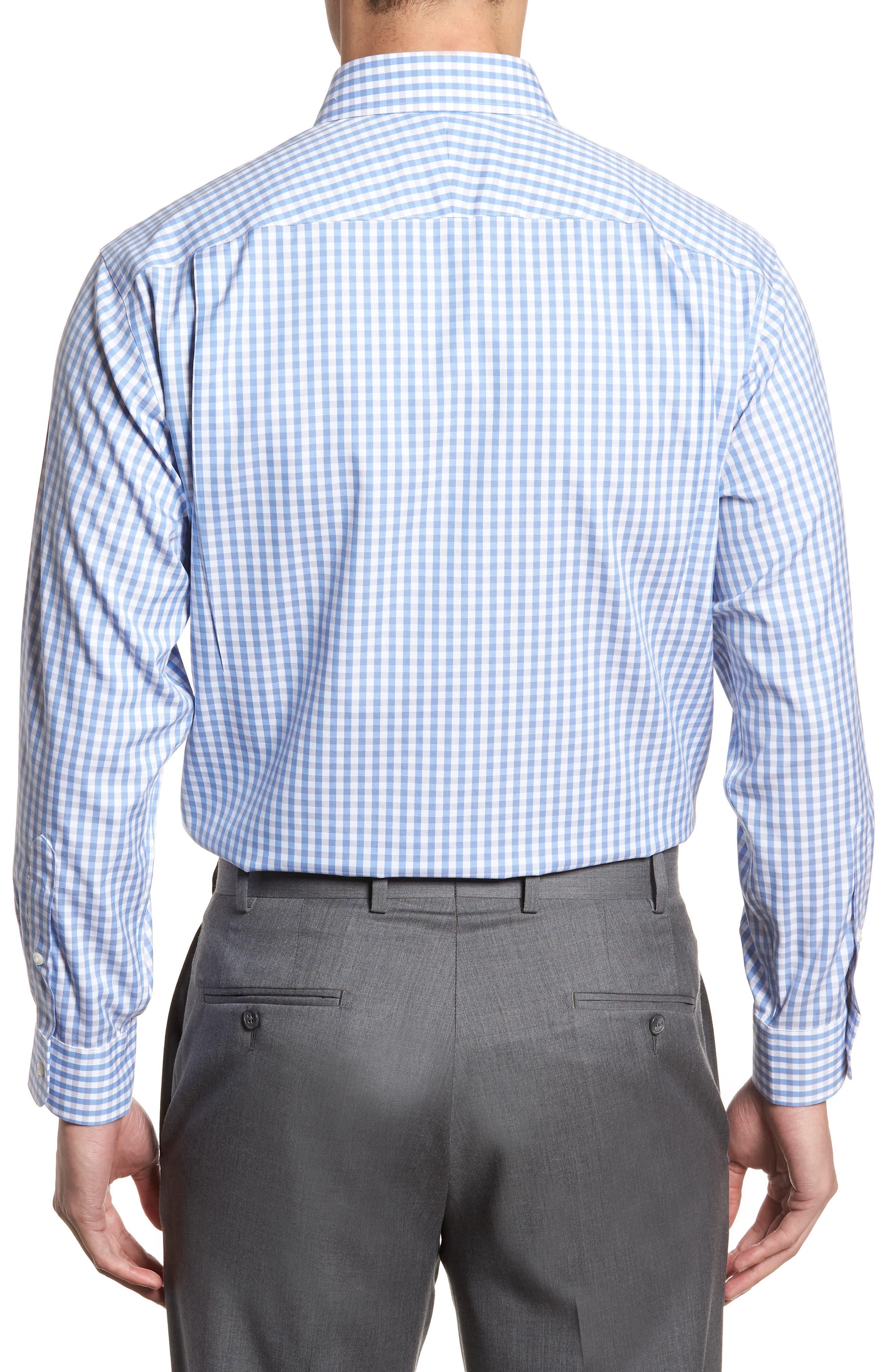 Smartcare<sup>™</sup> Classic Fit Check Dress Shirt,                             Alternate thumbnail 3, color,                             Grey Micro