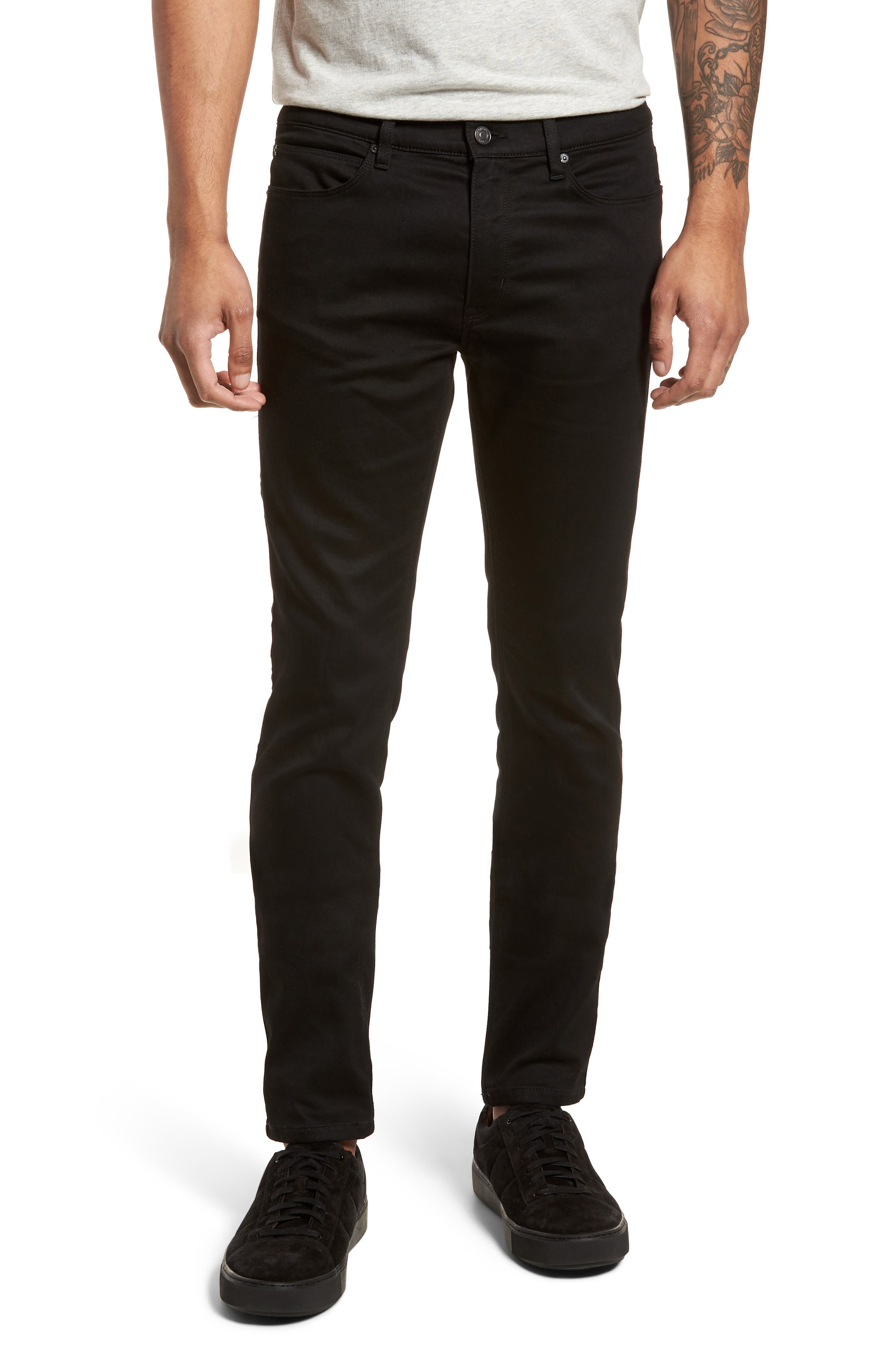 734 Skinny Fit Jeans,                             Main thumbnail 1, color,                             Black