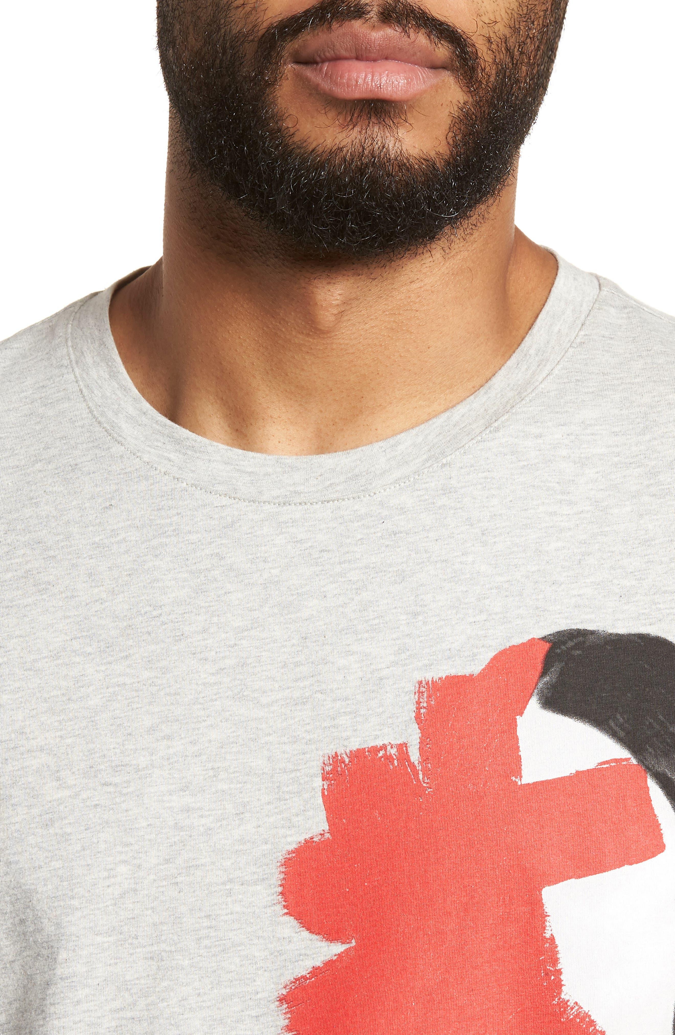 Drush Slim Fit Graphic T-Shirt,                             Alternate thumbnail 4, color,                             Grey