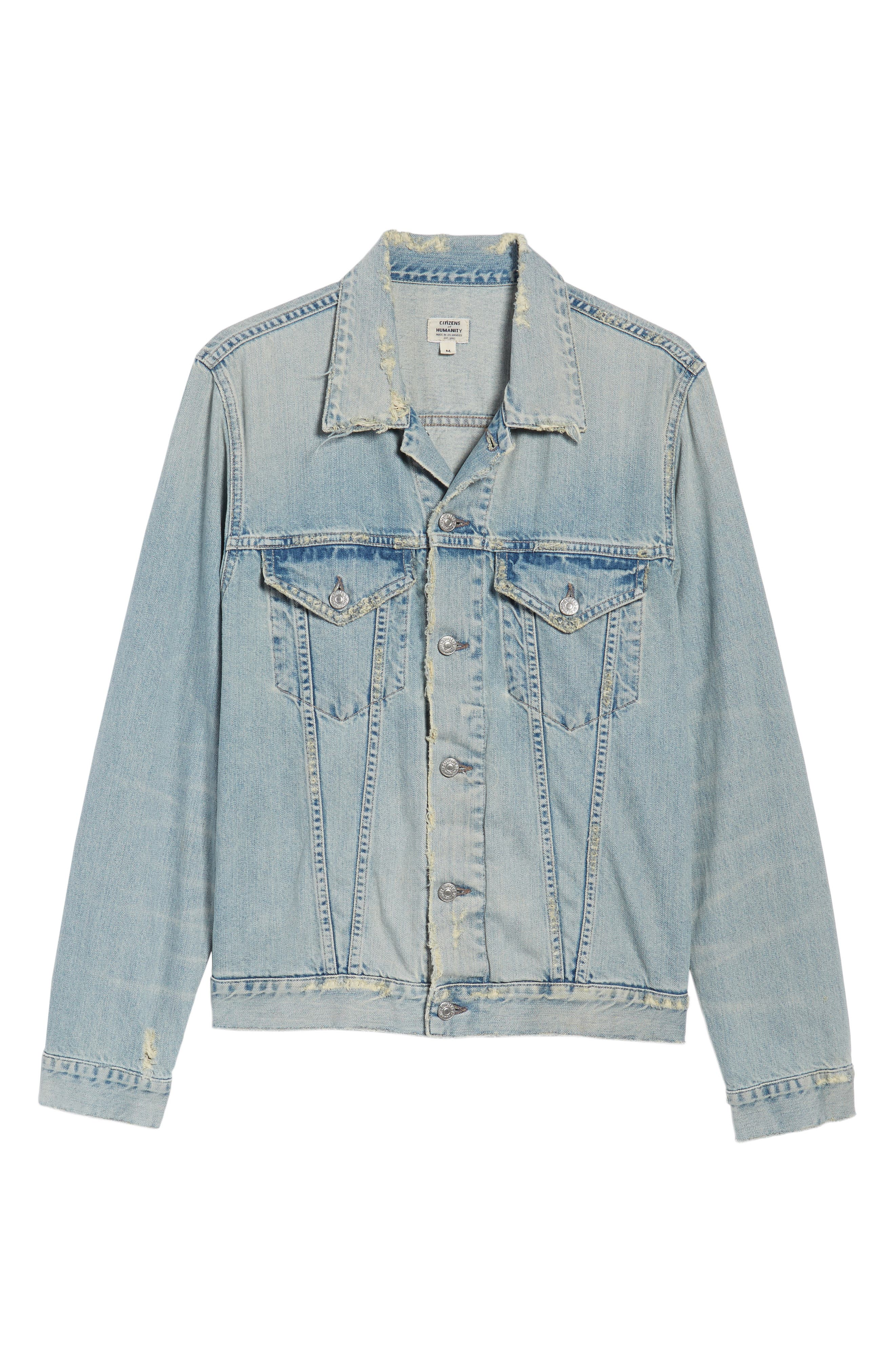Denim Jacket,                             Alternate thumbnail 6, color,                             Silver City