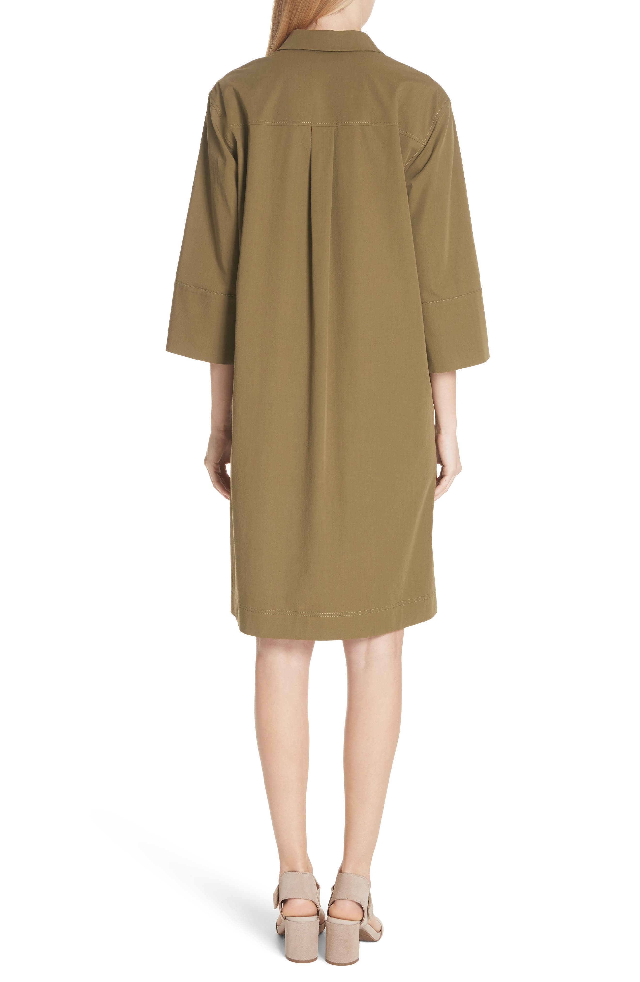Cara Shift Dress,                             Alternate thumbnail 2, color,                             Lily Pad