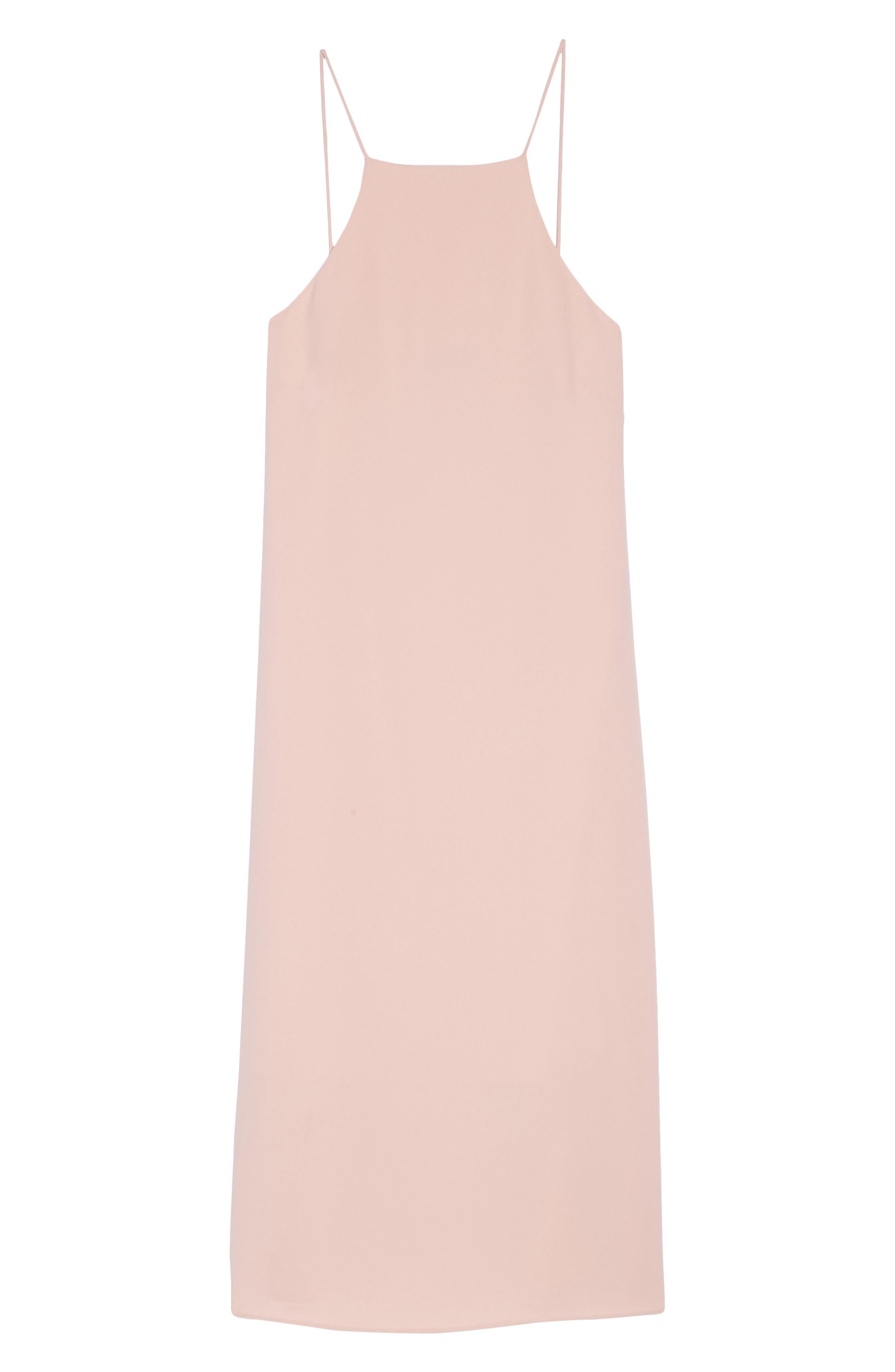 Sleeveless Midi Dress,                             Alternate thumbnail 6, color,                             Blush
