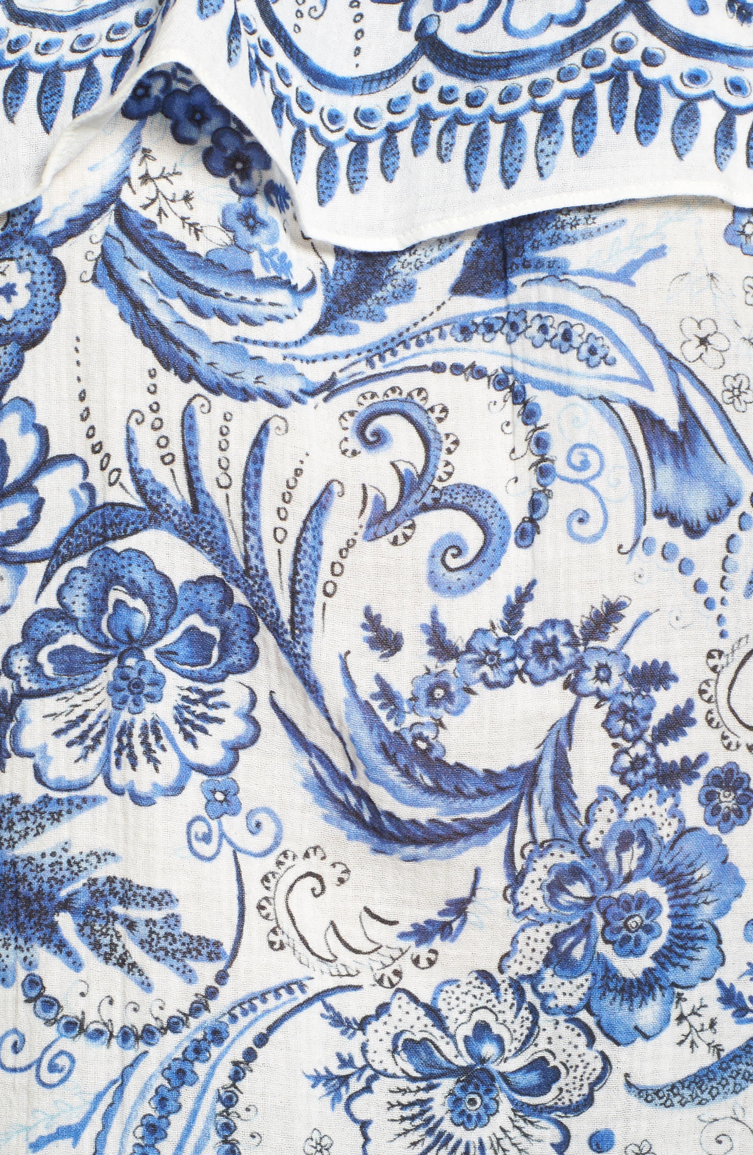 Farmers' Market Top,                             Alternate thumbnail 5, color,                             Vintage Blue