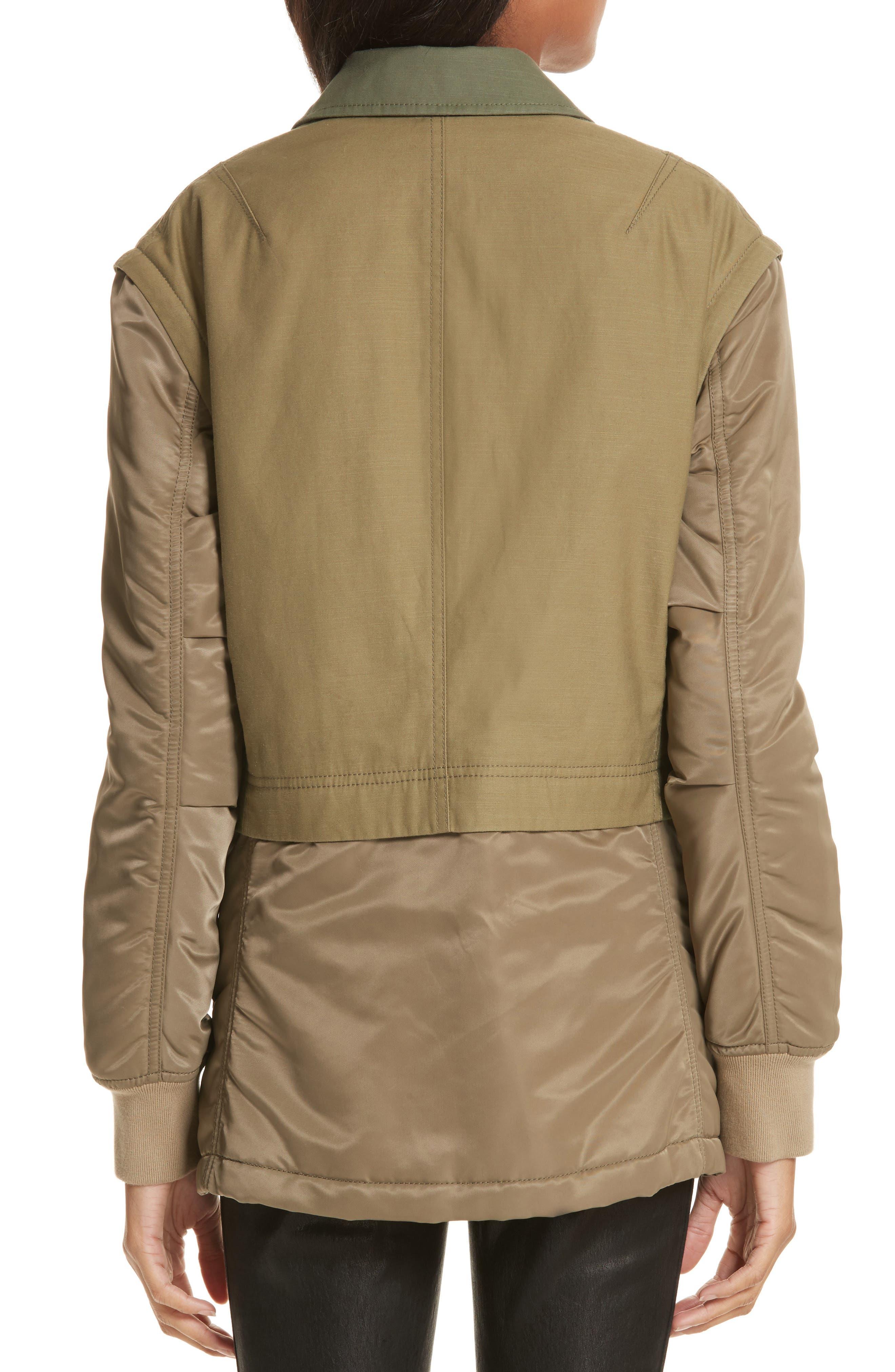 Modular Field Convertible Cotton Jacket,                             Alternate thumbnail 2, color,                             Dark Olive