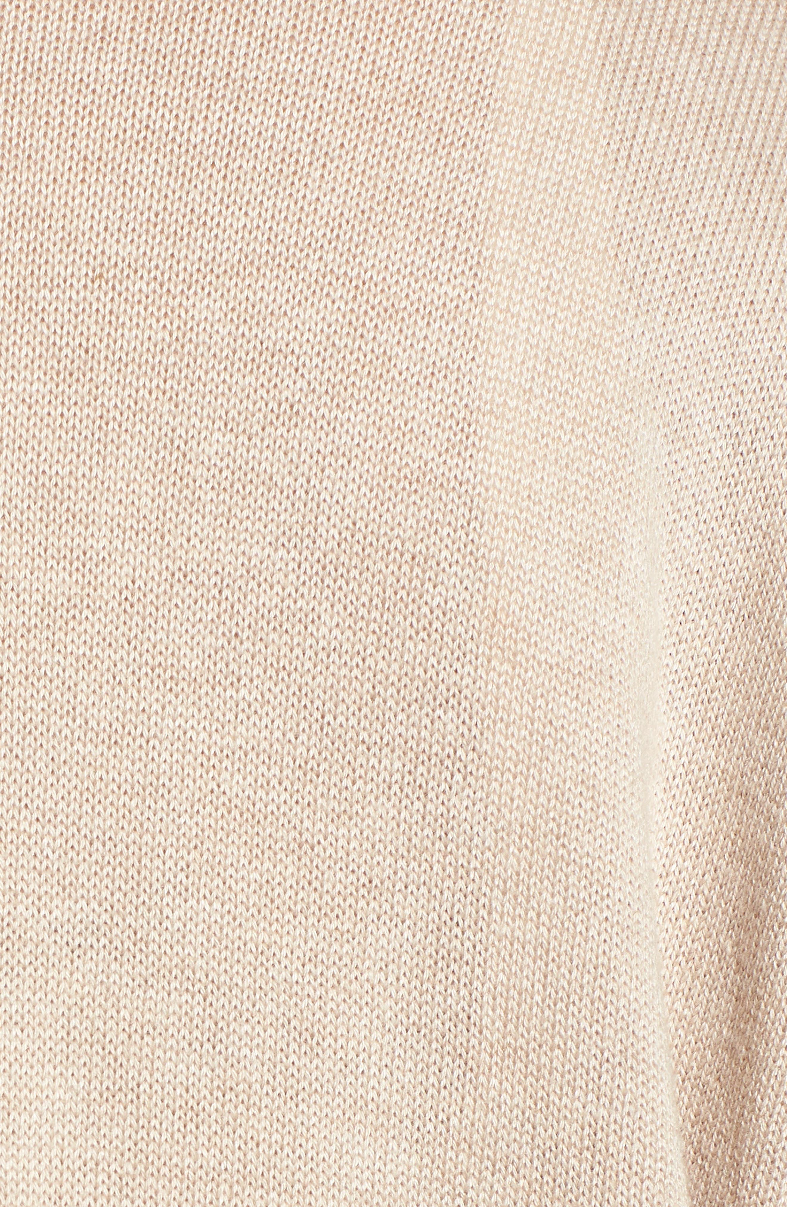 Dolman Sleeve Cardigan,                             Alternate thumbnail 5, color,                             Tan Etherea Heather