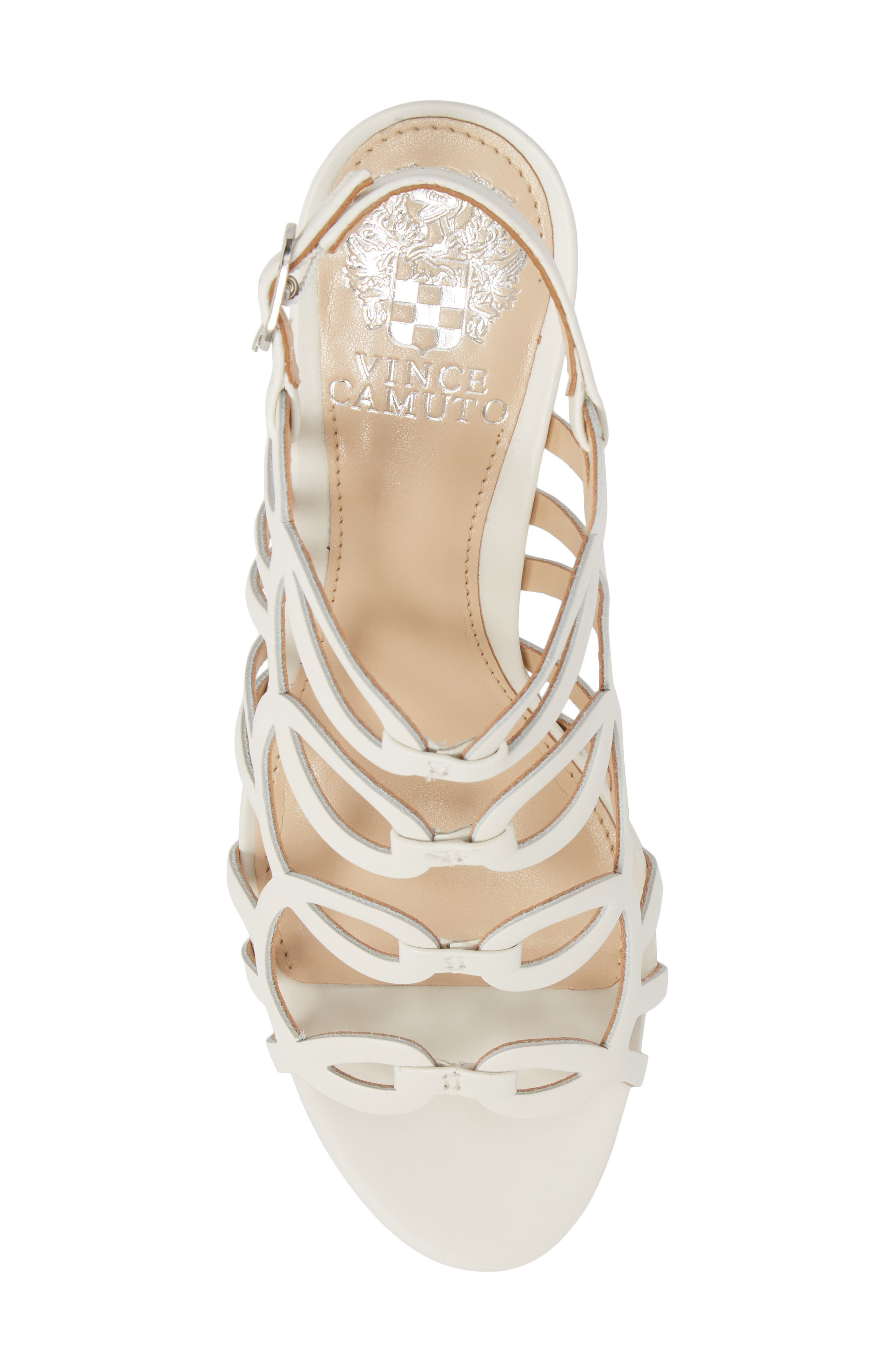 Petina Sandal,                             Alternate thumbnail 5, color,                             White Leather